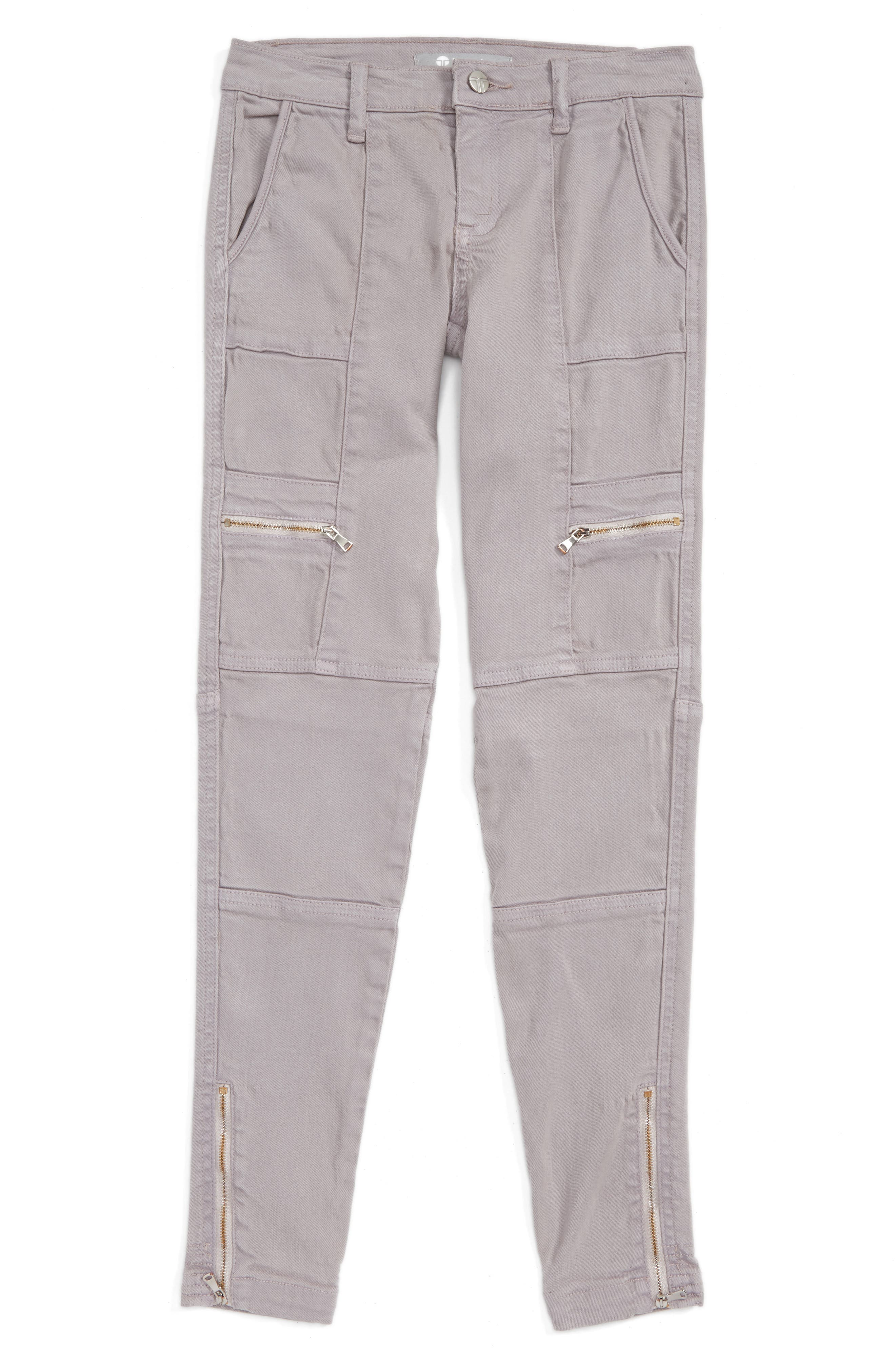 Tractr Utility Cargo Ankle Jeans (Big Girls)