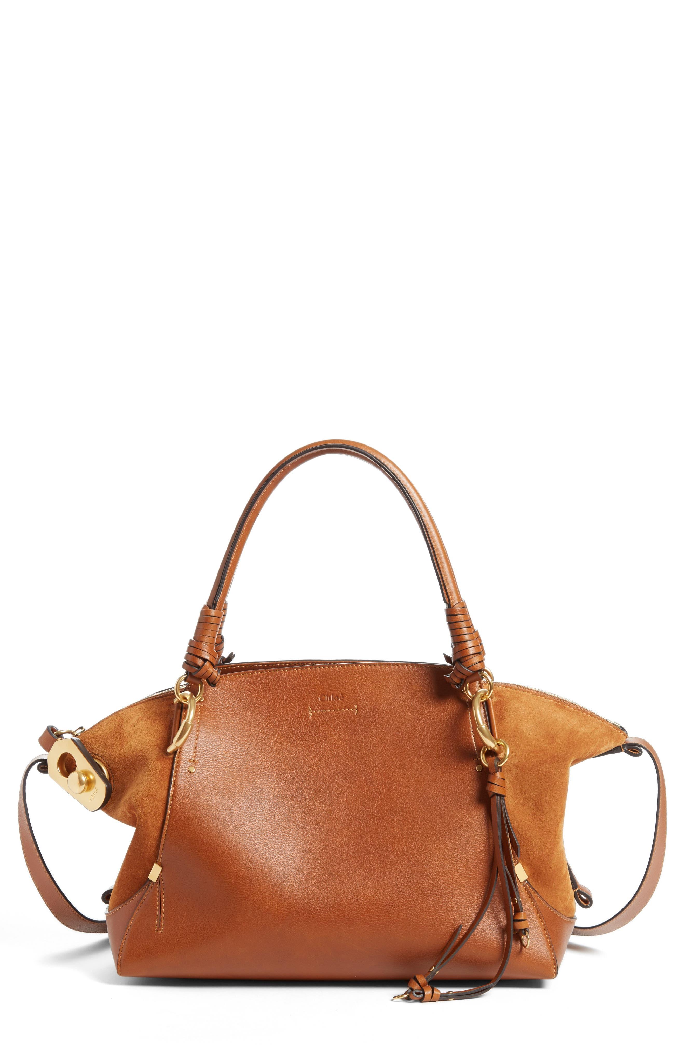 Chloé Medium Owen Calfskin Leather Tote