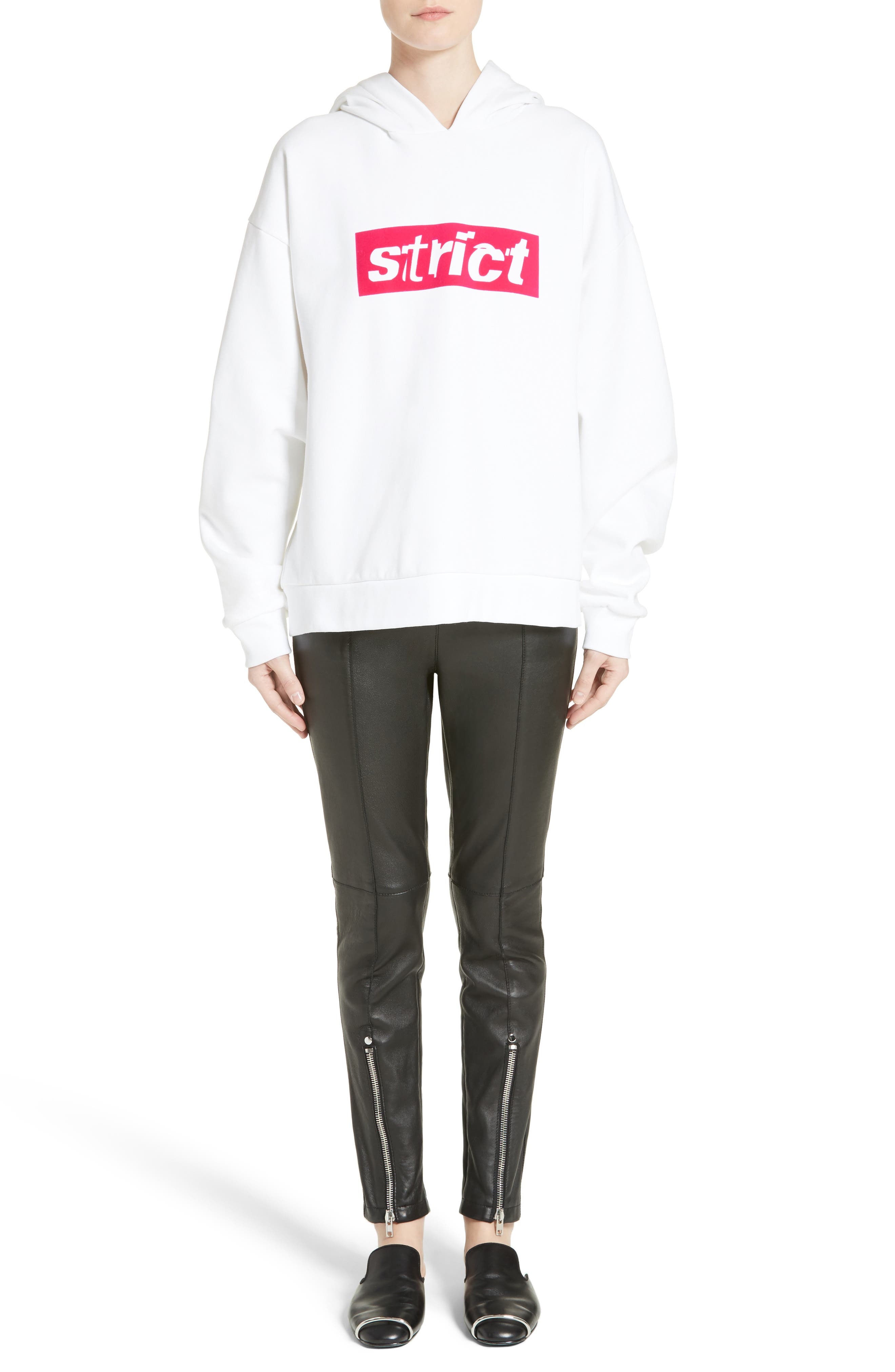 Alternate Image 7  - Alexander Wang Graphic Hooded Sweatshirt
