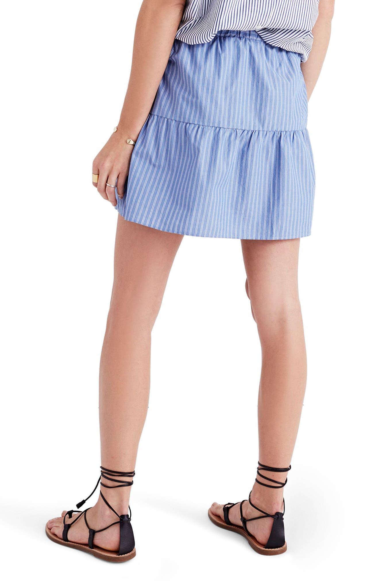 Alternate Image 2  - Madewell Bistro Stripe Miniskirt