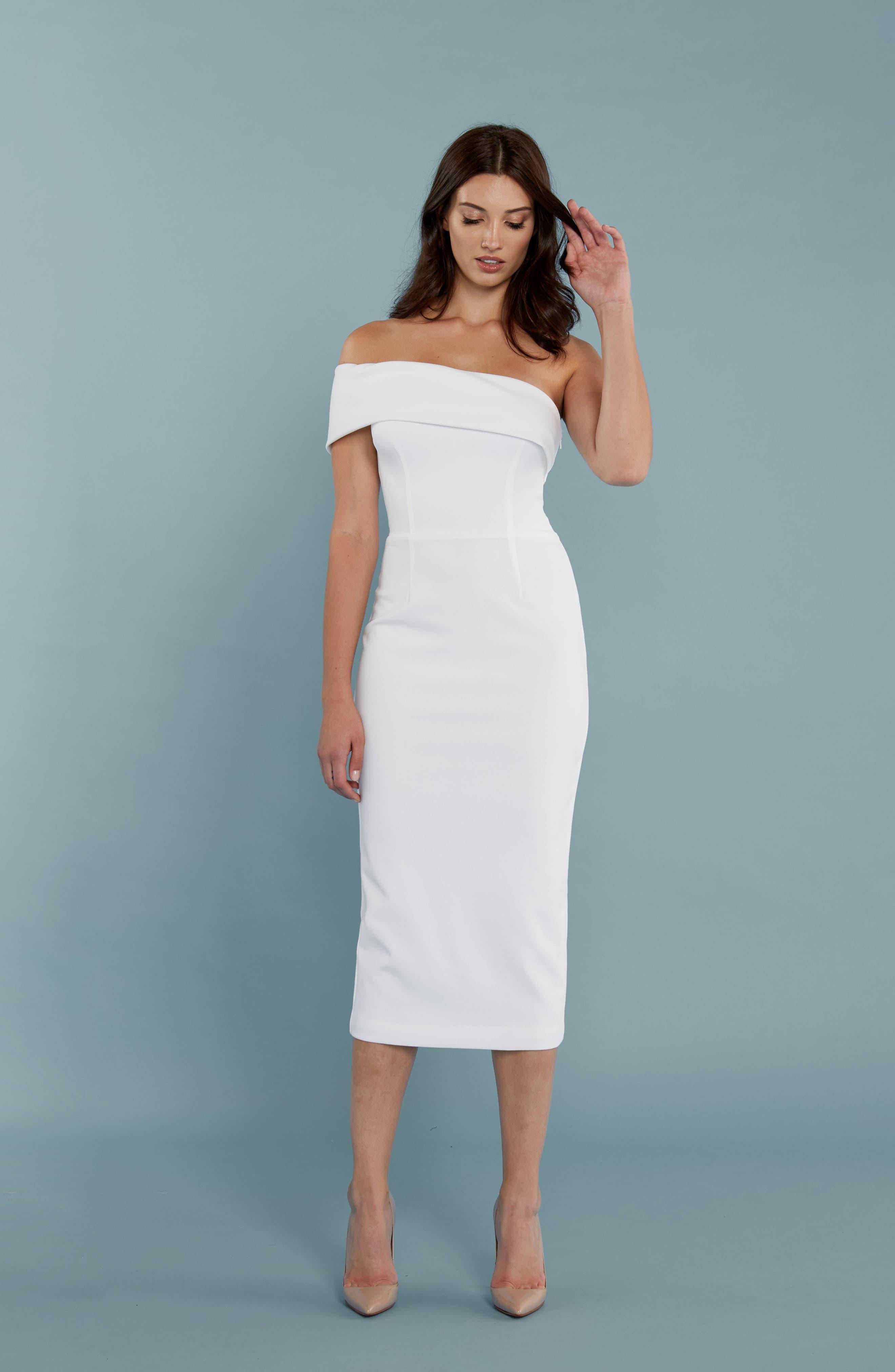 Alternate Image 4  - Katie May One-Shoulder Midi Sheath Dress