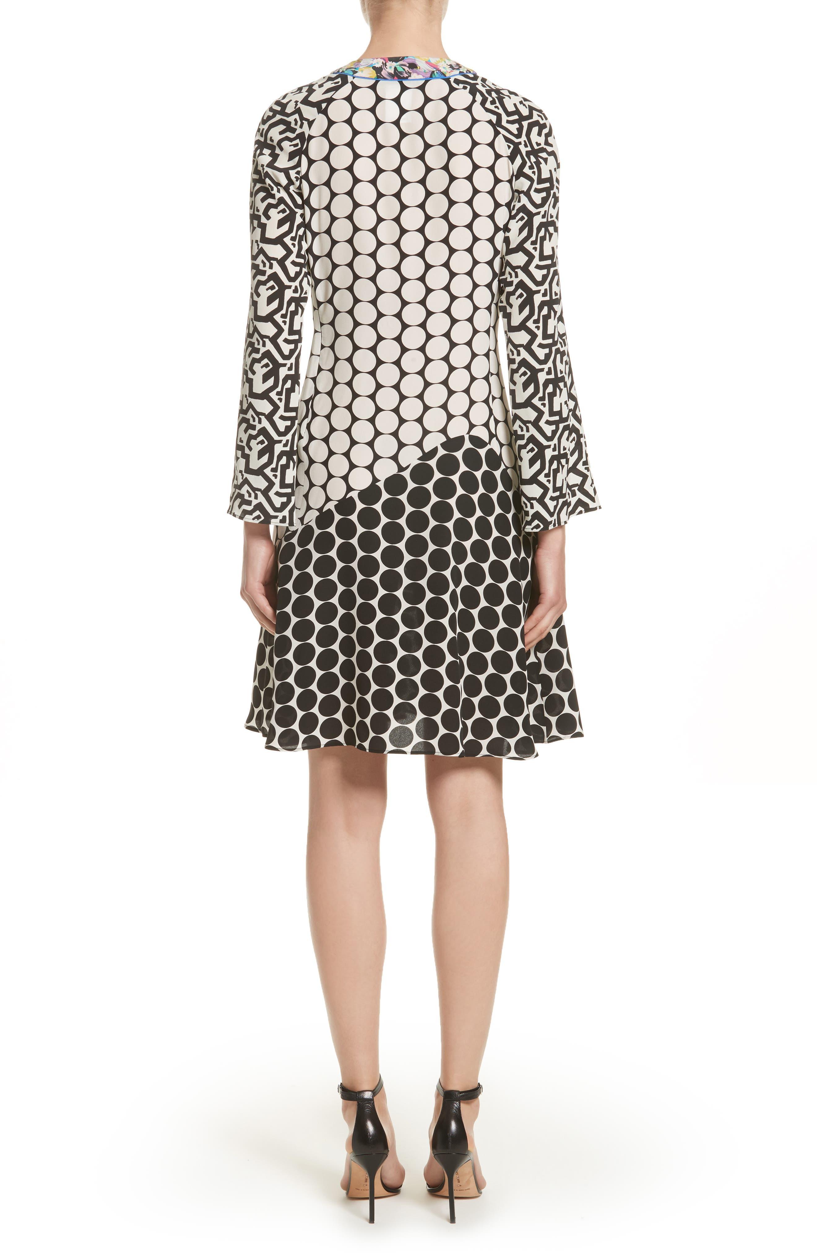 Alternate Image 2  - Etro Polka Dot Print Silk Crêpe de Chine Flutter Dress