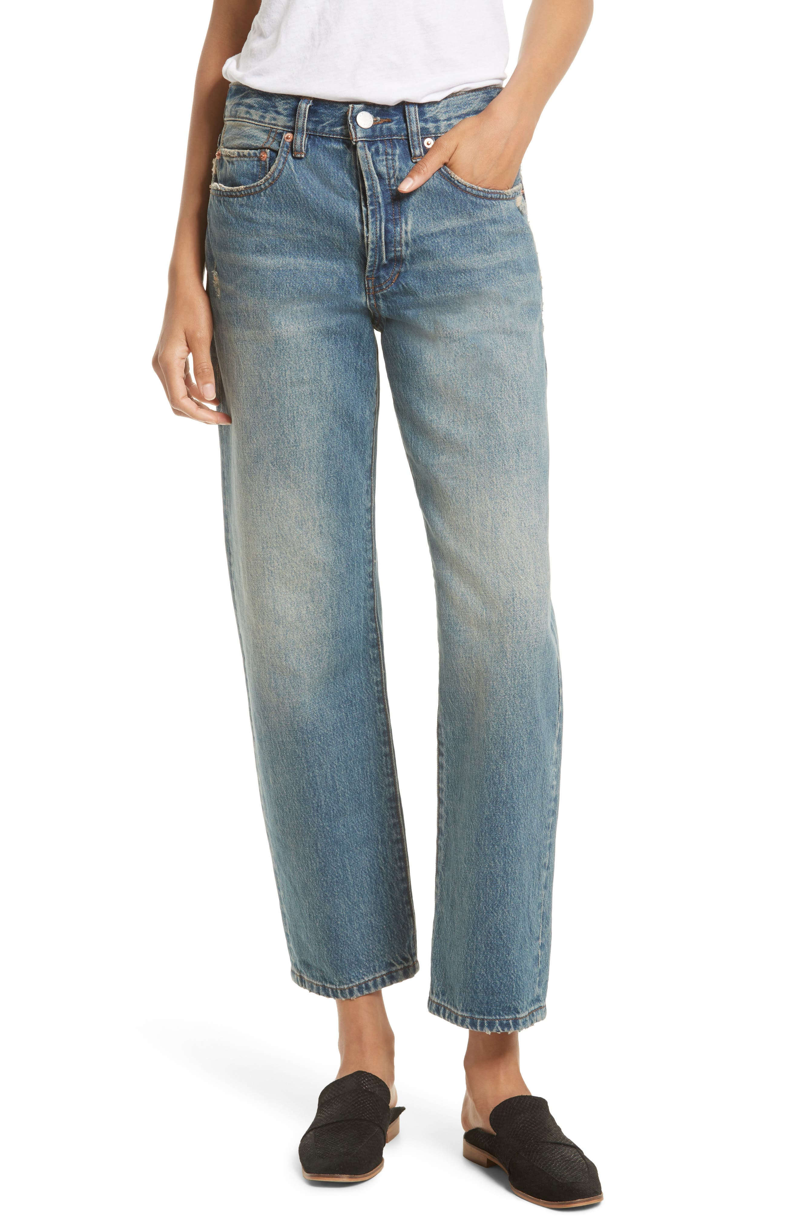 Alternate Image 1 Selected - Free People Universal Boyfriend Jeans (Sky)