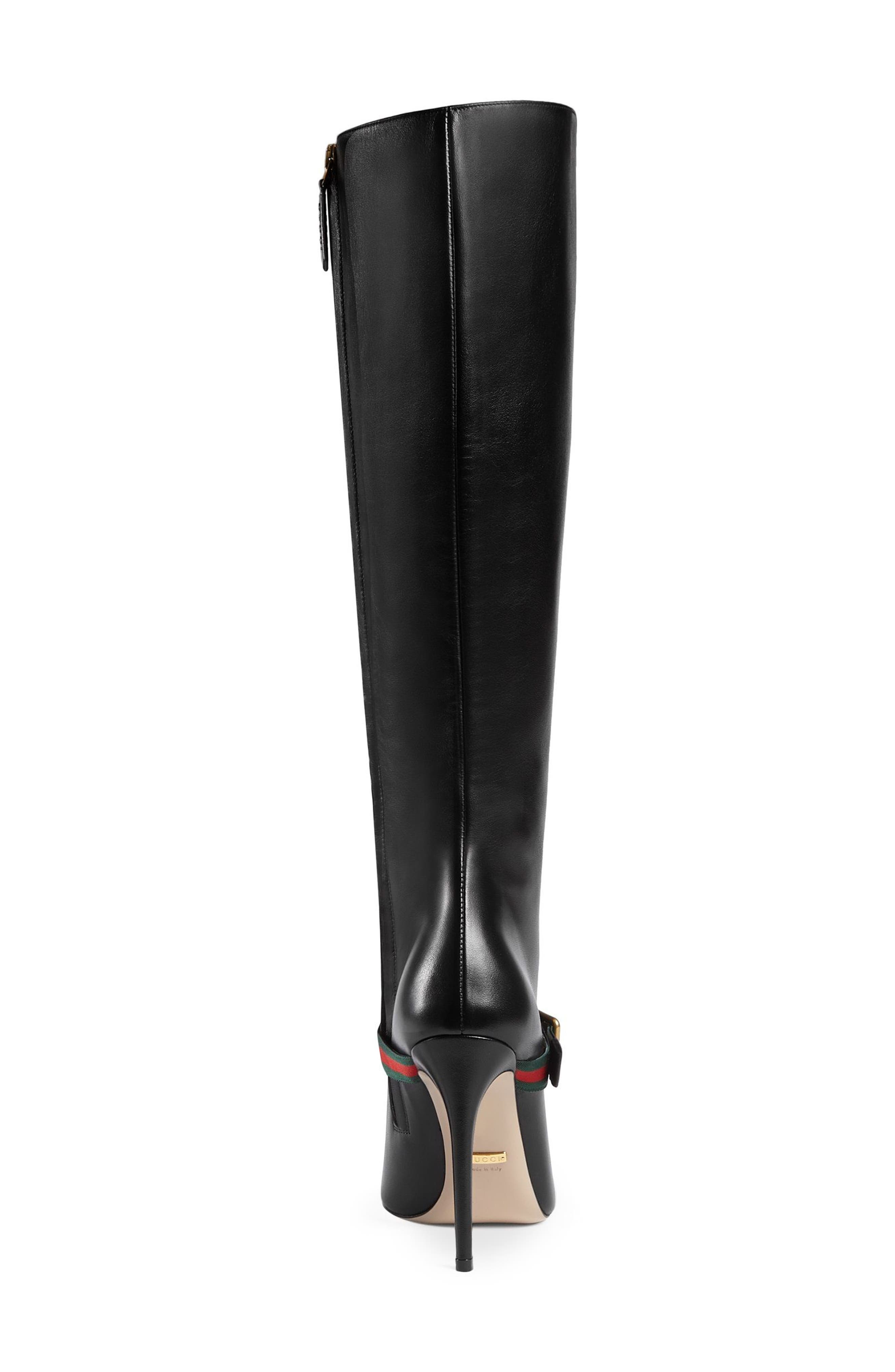 Alternate Image 3  - Gucci Sylvie Strap Tall Boot (Women)