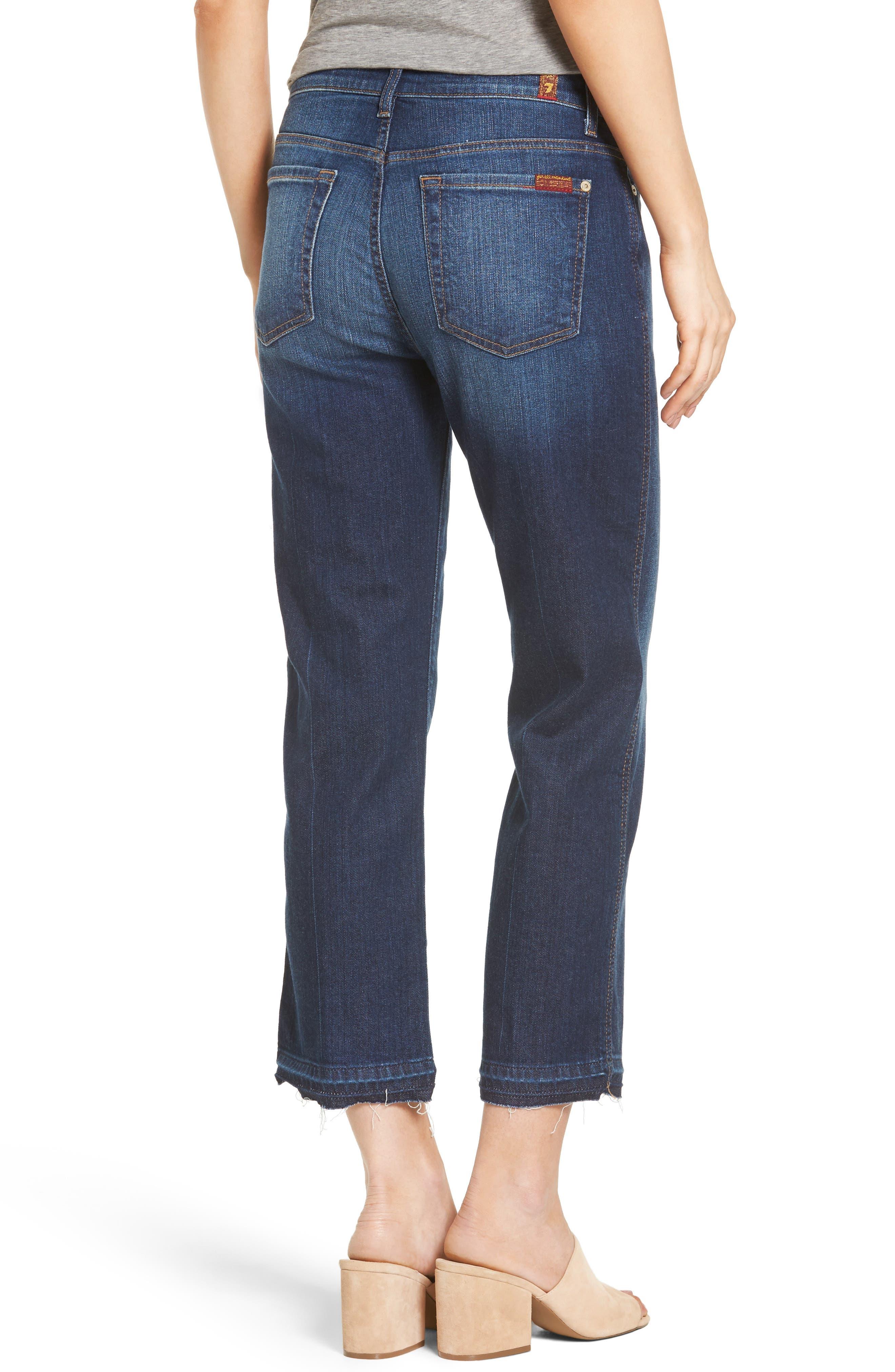 Alternate Image 2  - 7 For All Mankind® Kiki High Waist Crop Wide Leg Jeans (Eden Port)