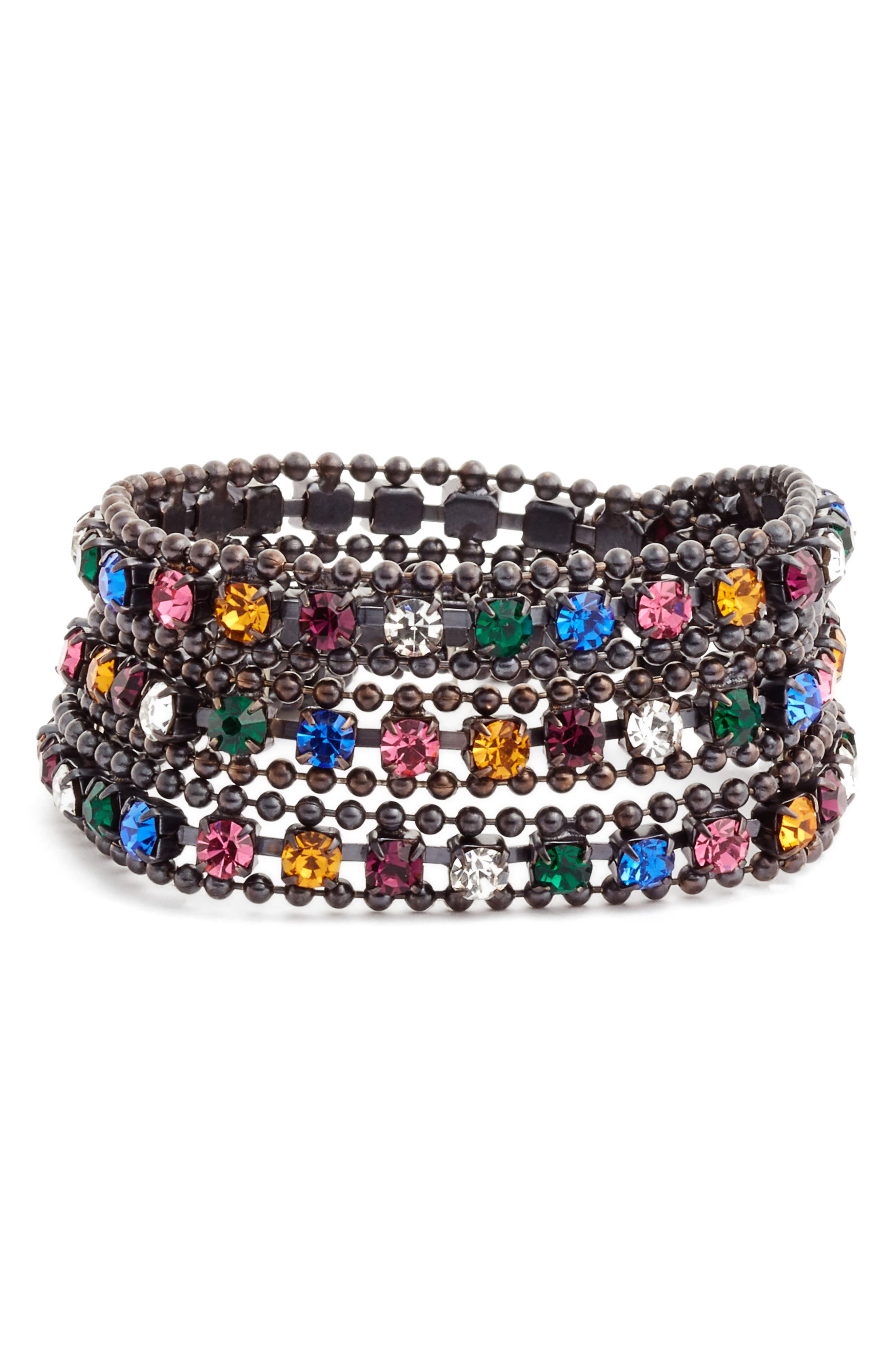Loren Hope Glenn Crystal Wrap Bracelet