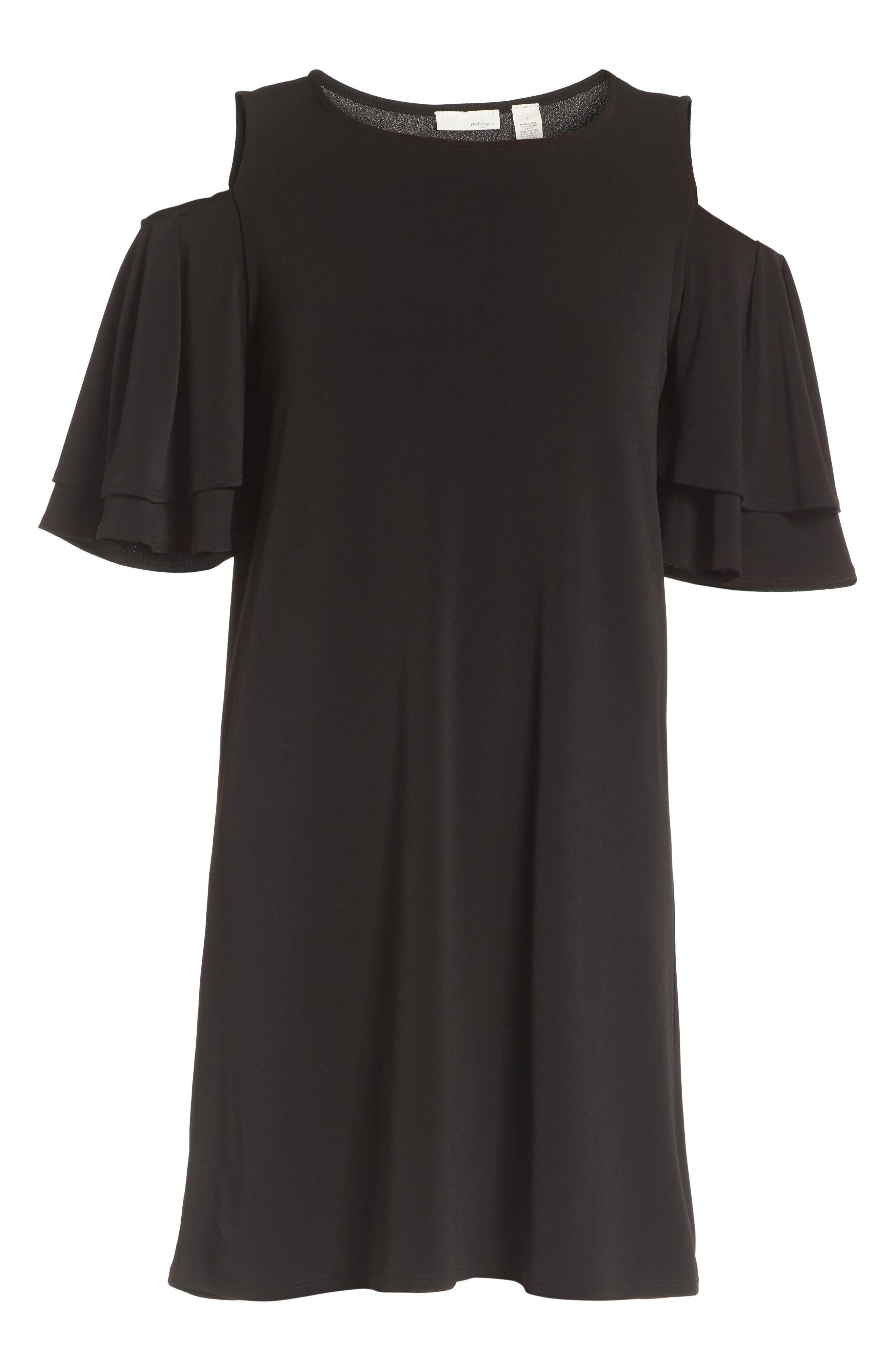 Alternate Image 5  - Halogen® Cold Shoulder Shift Dress