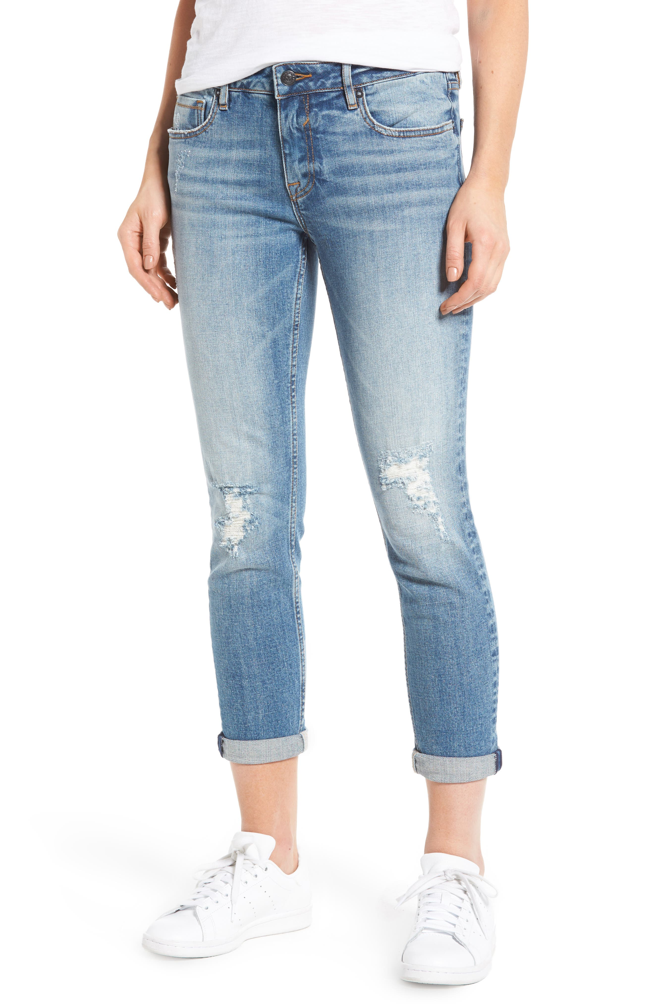 Main Image - Vigoss Tomboy Ripped Skinny Jeans