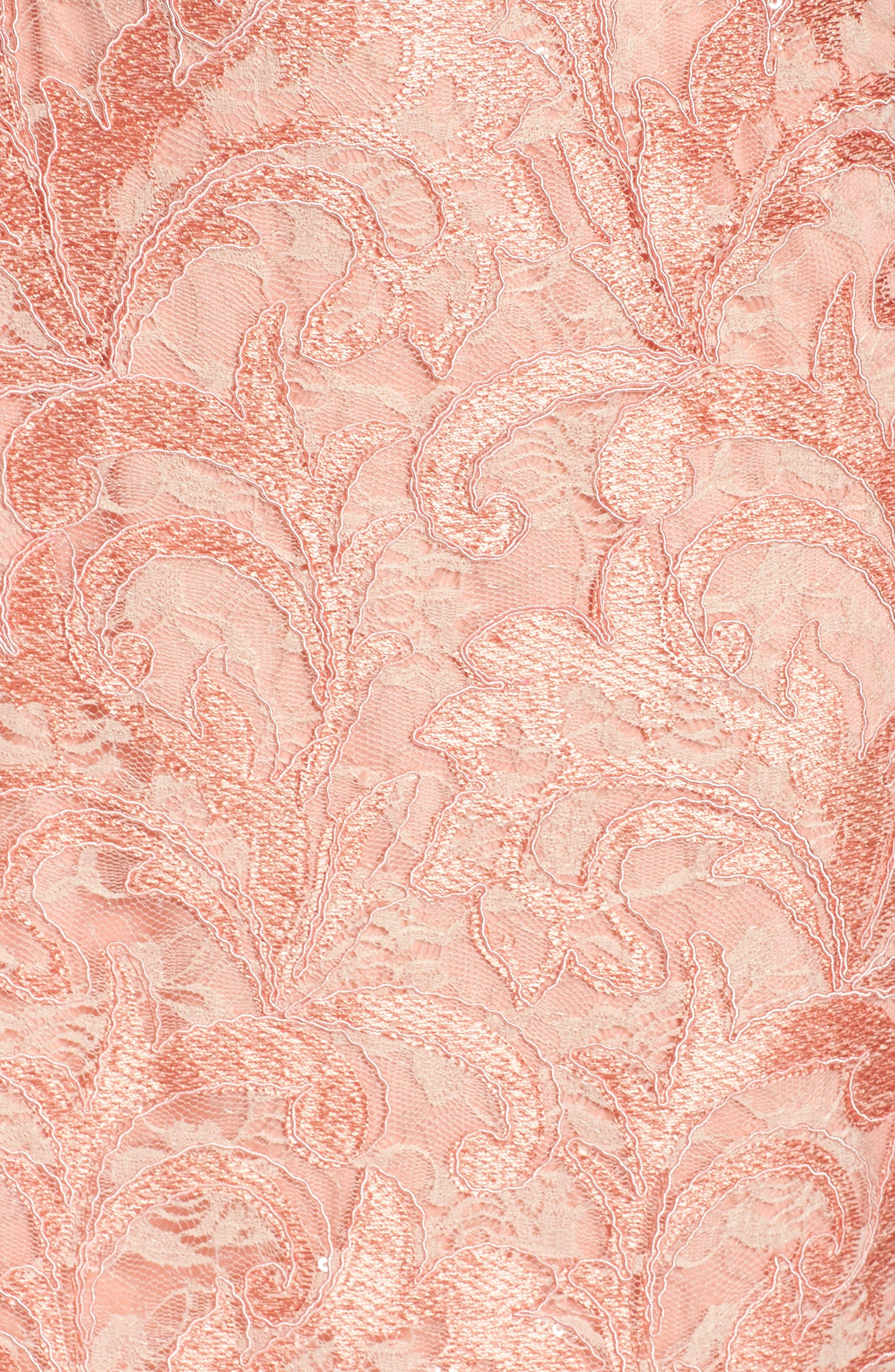 Alternate Image 5  - Chetta B Sequin Lace Sheath Dress