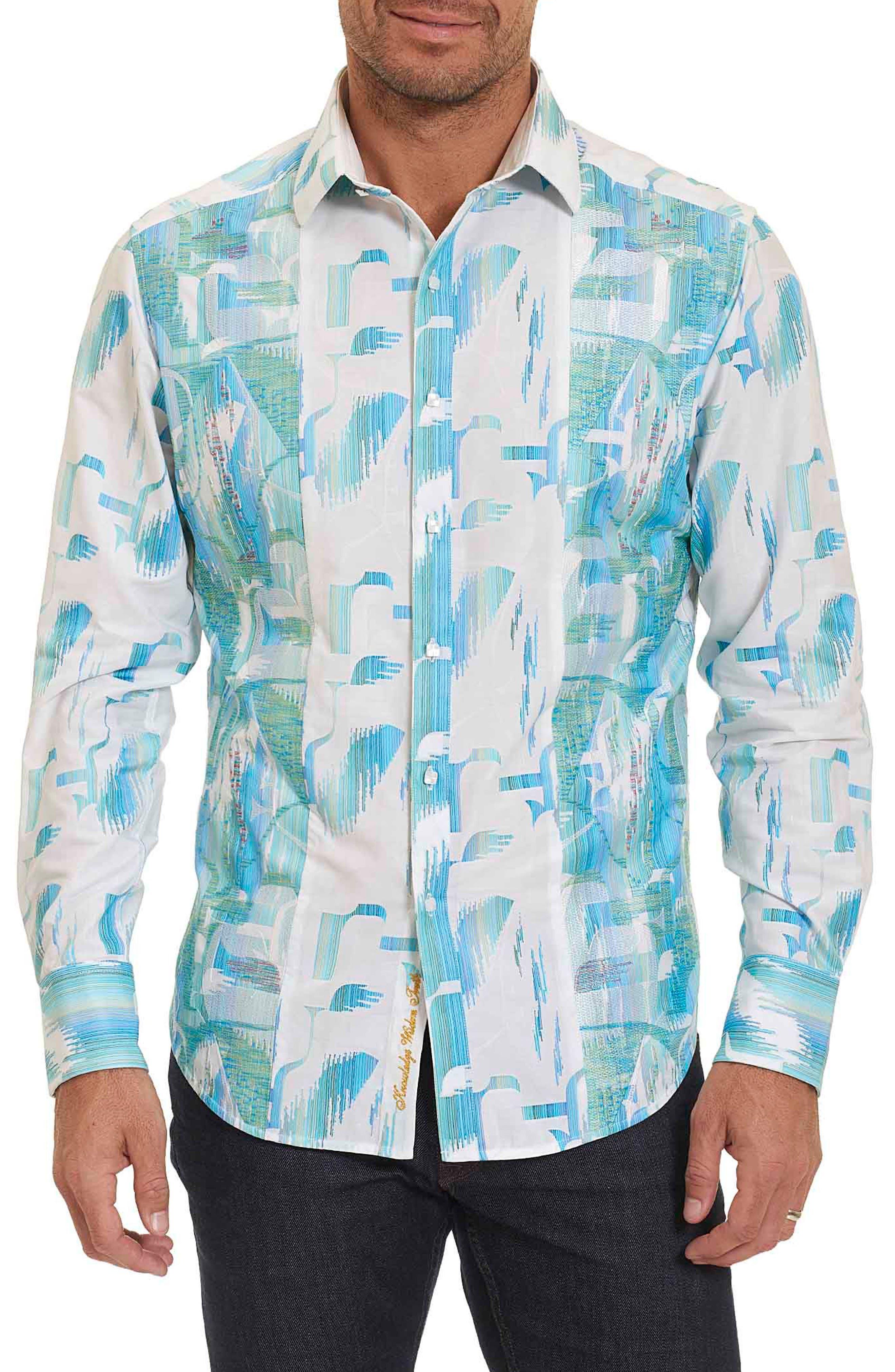 Robert Graham SM Pier Classic Fit Print Sport Shirt (Limited Edition)