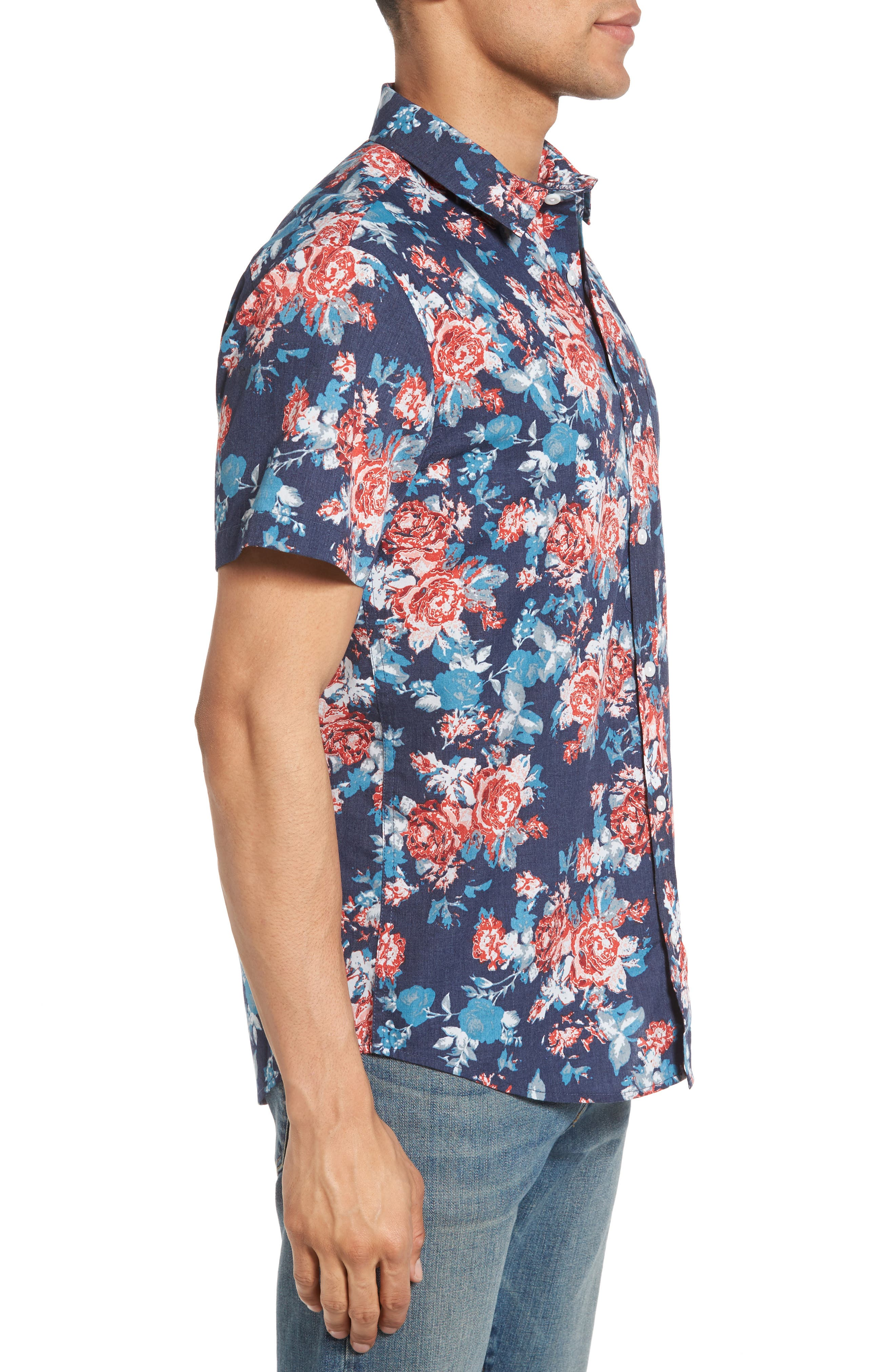 Alternate Image 3  - 1901 Wallpaper Floral Print Shirt