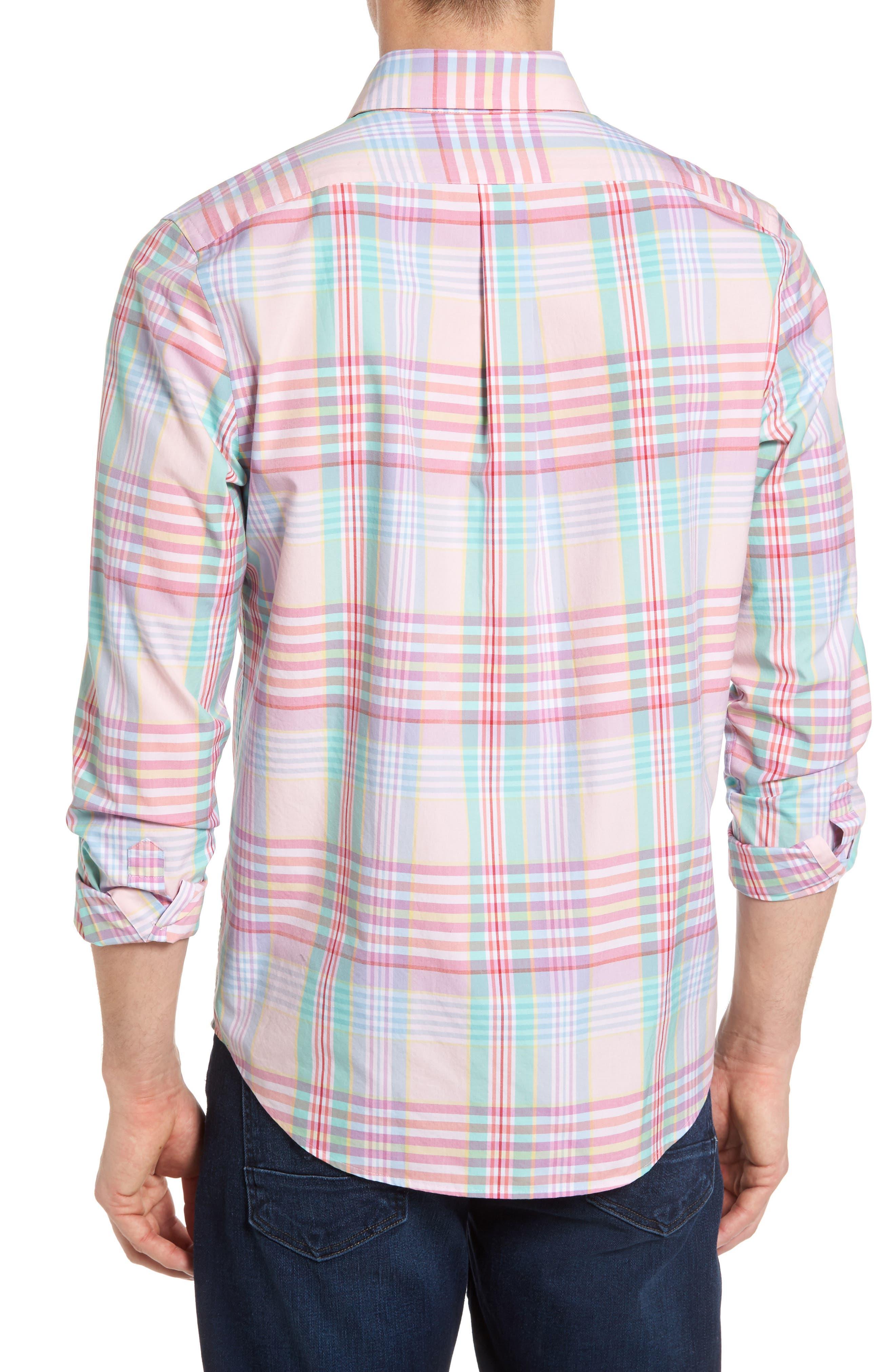 Alternate Image 2  - Vineyard Vines Slim Fit Tucker Plaid Sport Shirt