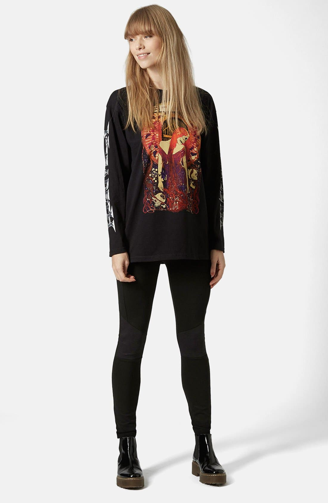 Alternate Image 5  - Topshop Biker Knee Ponte Leggings