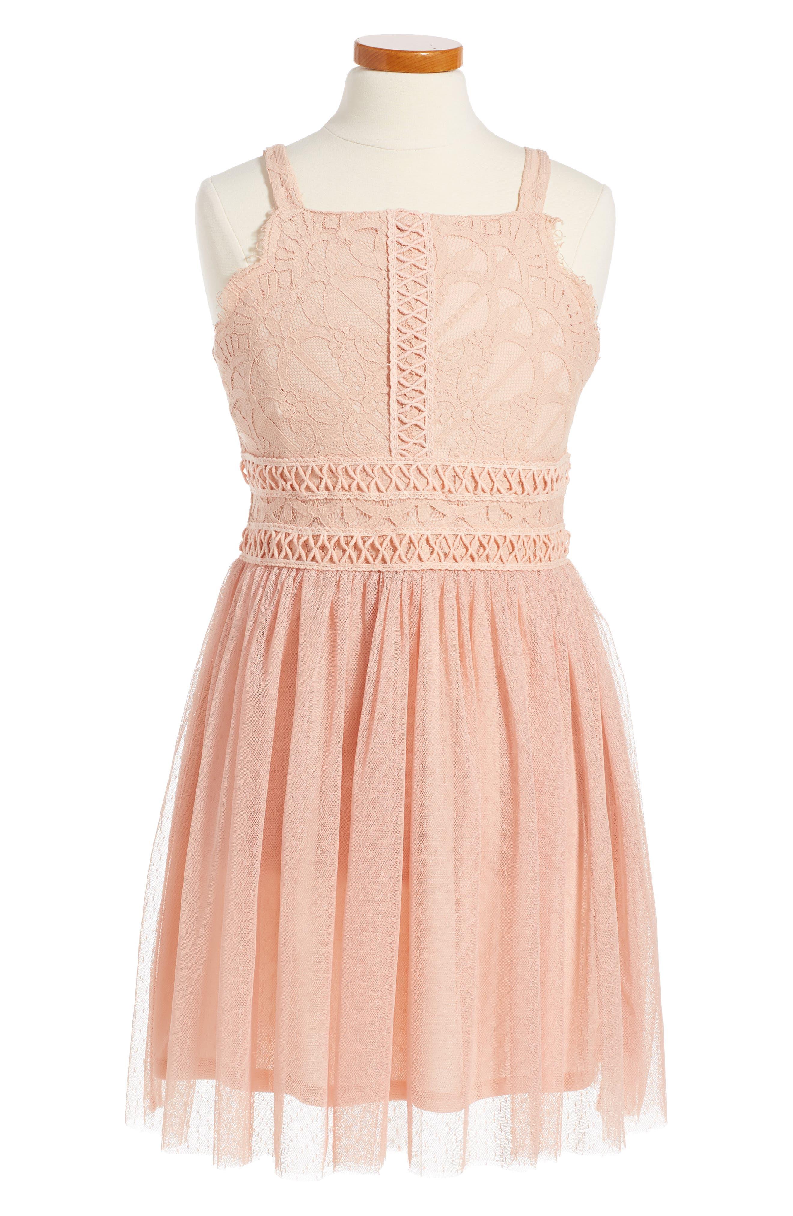 Trixxi Sleeveless Tulle Dress (Big Girls)