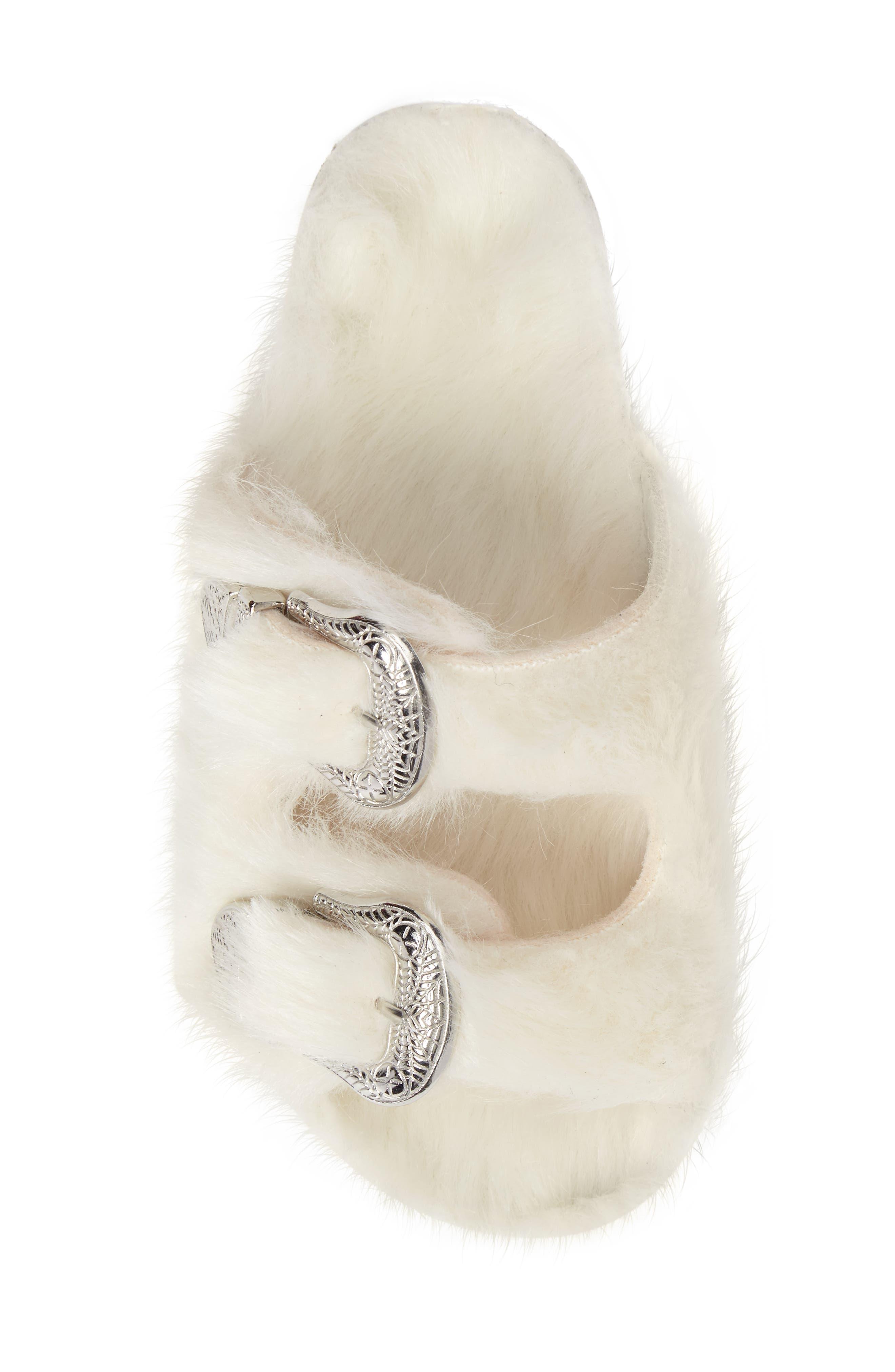 Alternate Image 5  - Topshop Falcon Faux Fur Slide Sandal (Women)