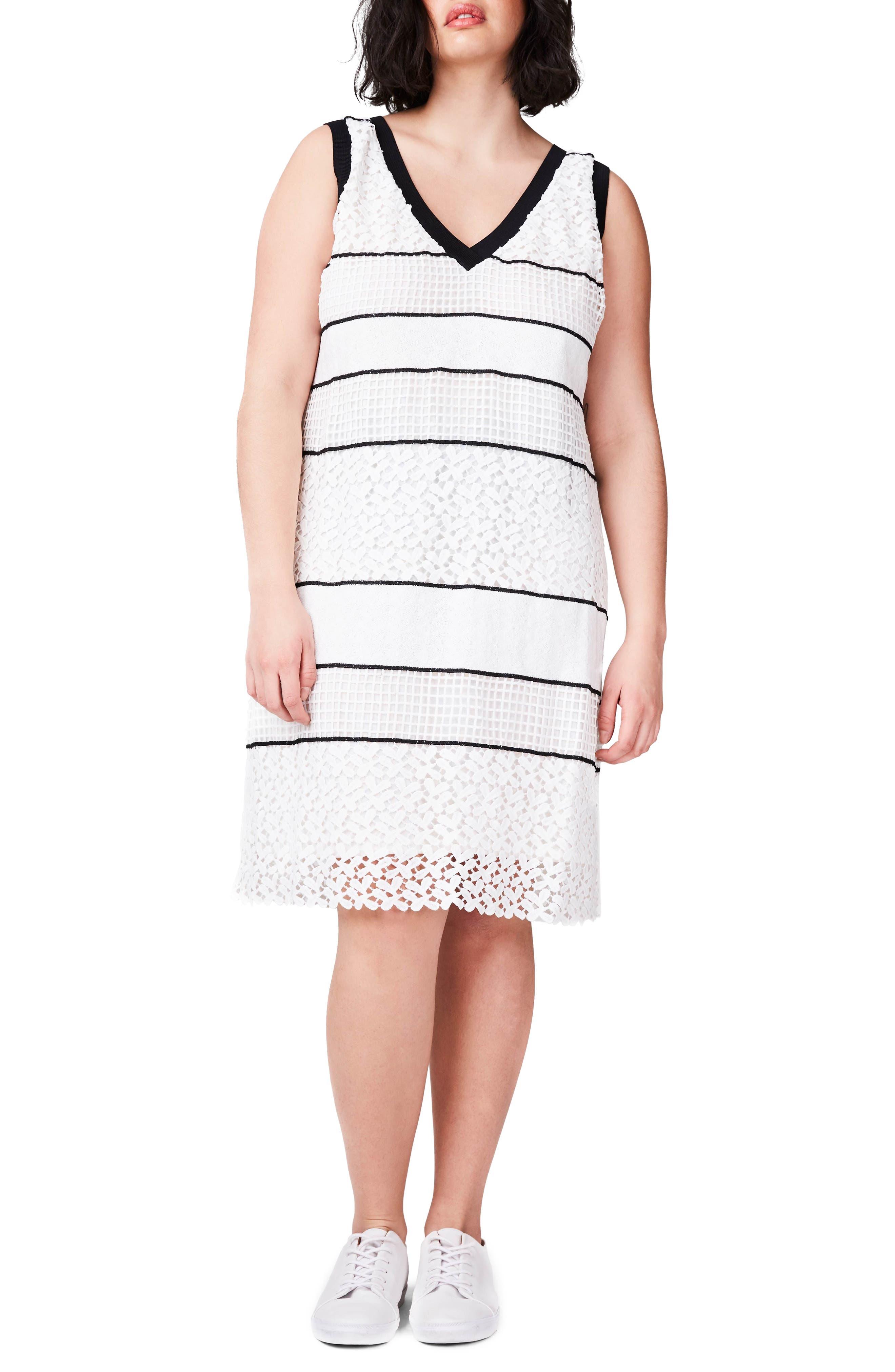 ELVI Lace Shift Dress (Plus Size)