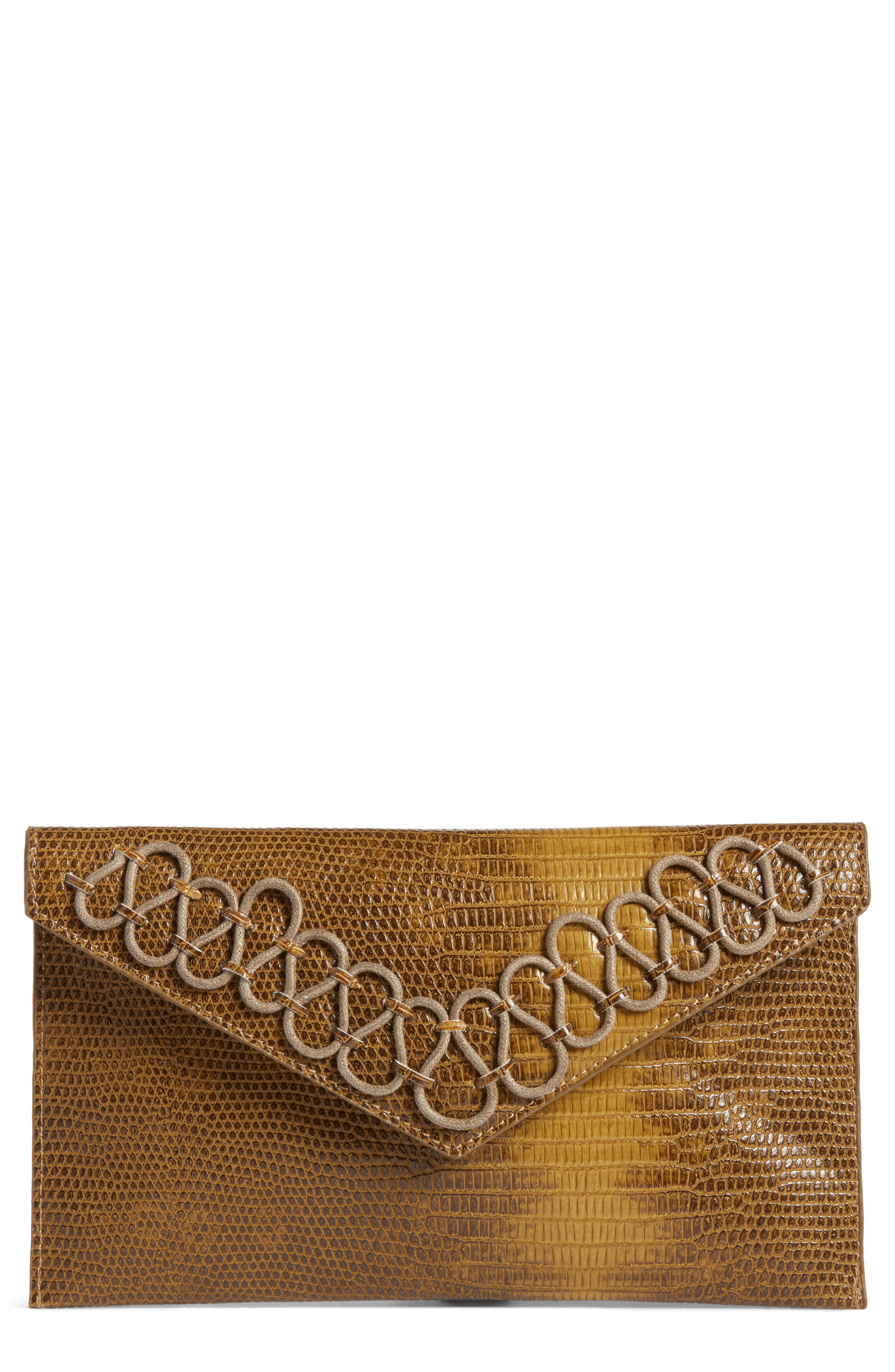Danielle Nicole Hutton Embossed Faux Leather Clutch