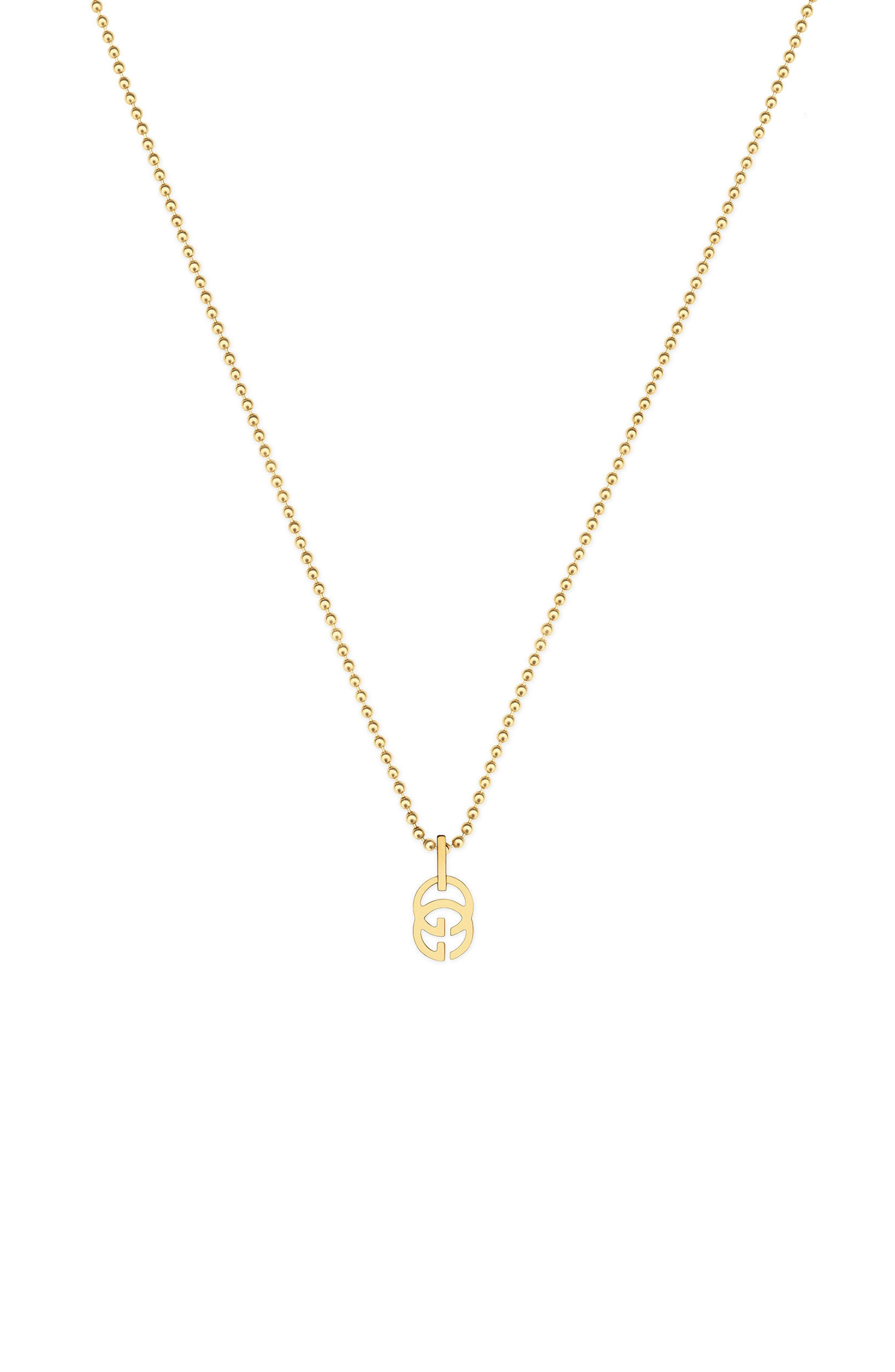 Alternate Image 1 Selected - Gucci Double-G Pendant Necklace