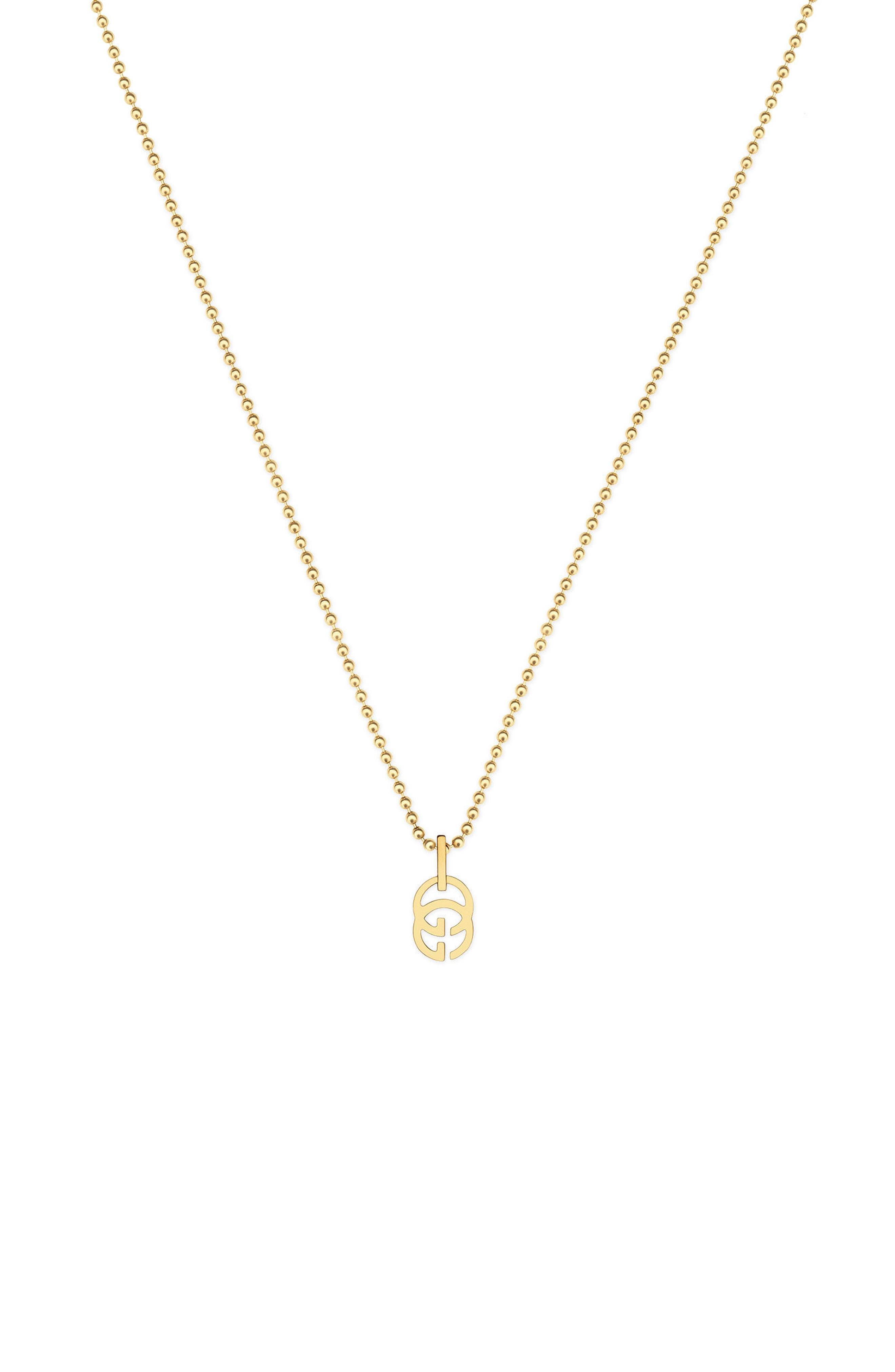 Main Image - Gucci Double-G Pendant Necklace