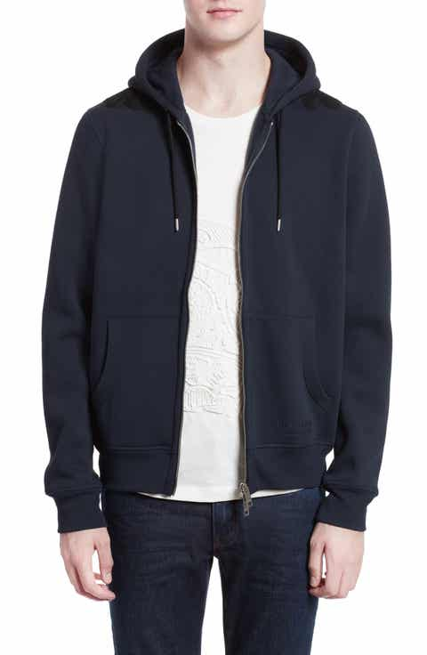 Burberry Braydon Trim Fit Fleece Hoodie