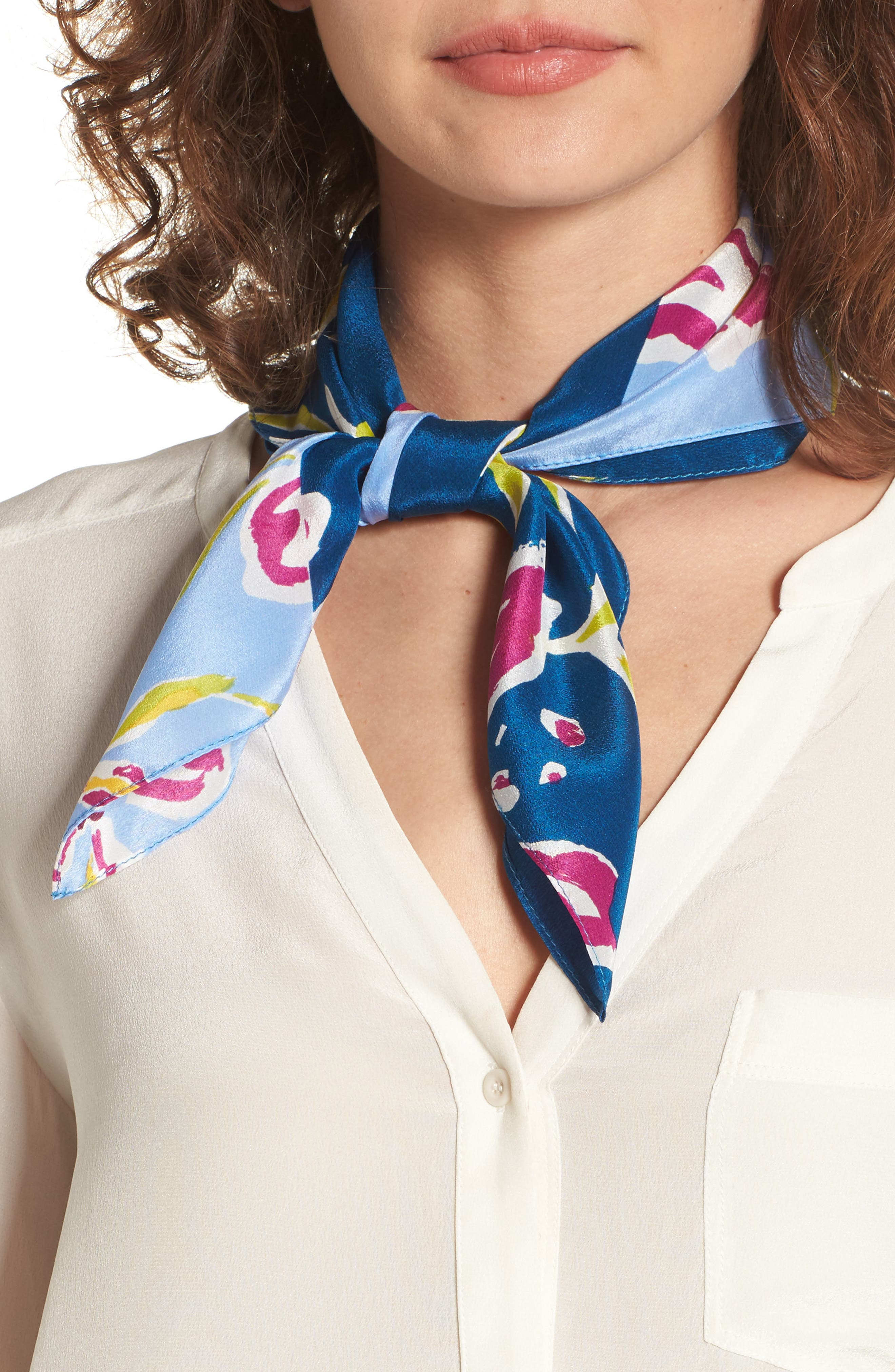 Alternate Image 1 Selected - Halogen® Floral Tropicana Silk Scarf