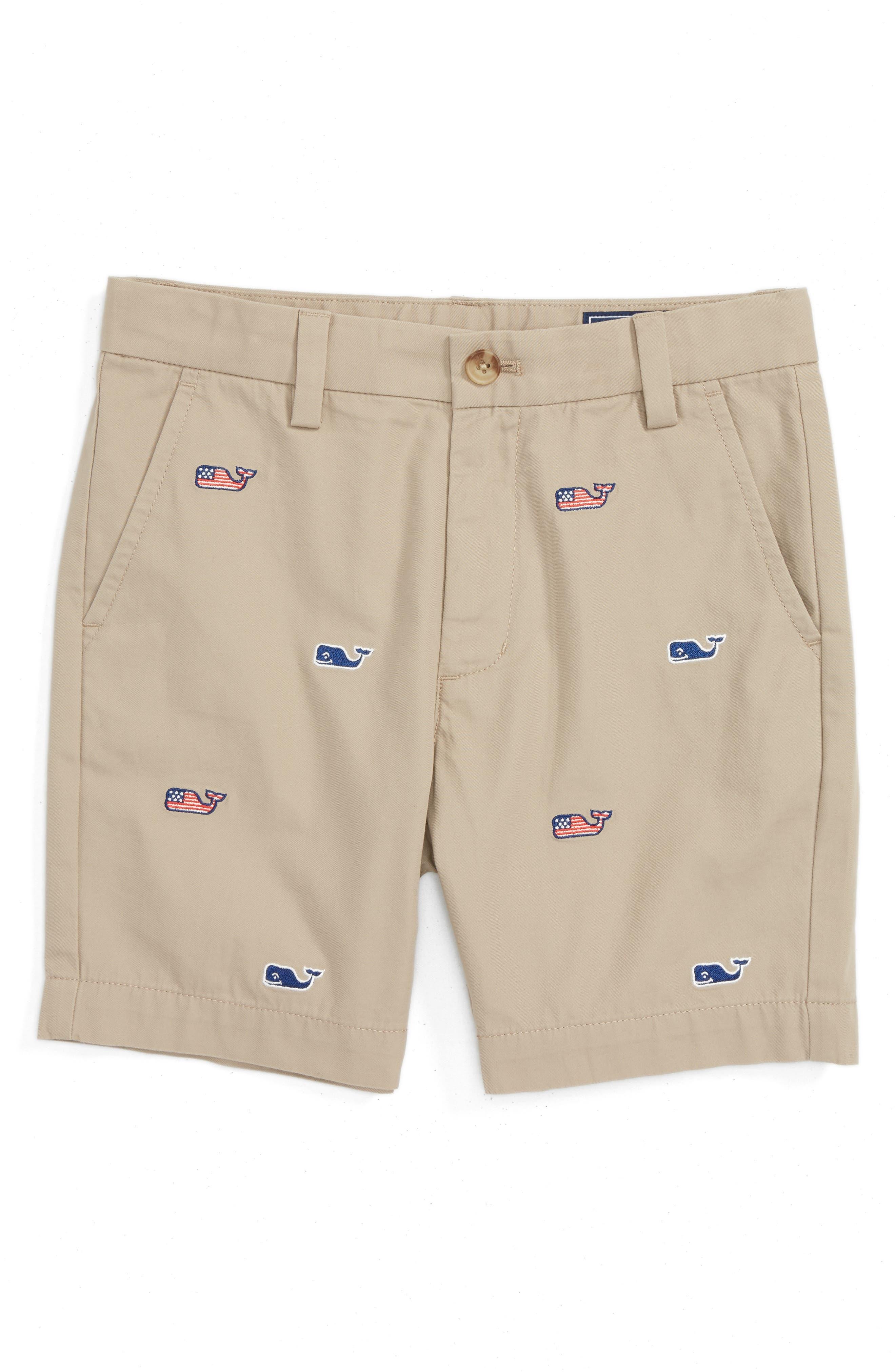 Vineyard Vines Flag Whale Embroidered Breaker Shorts (Toddler Boys & Little Boys)