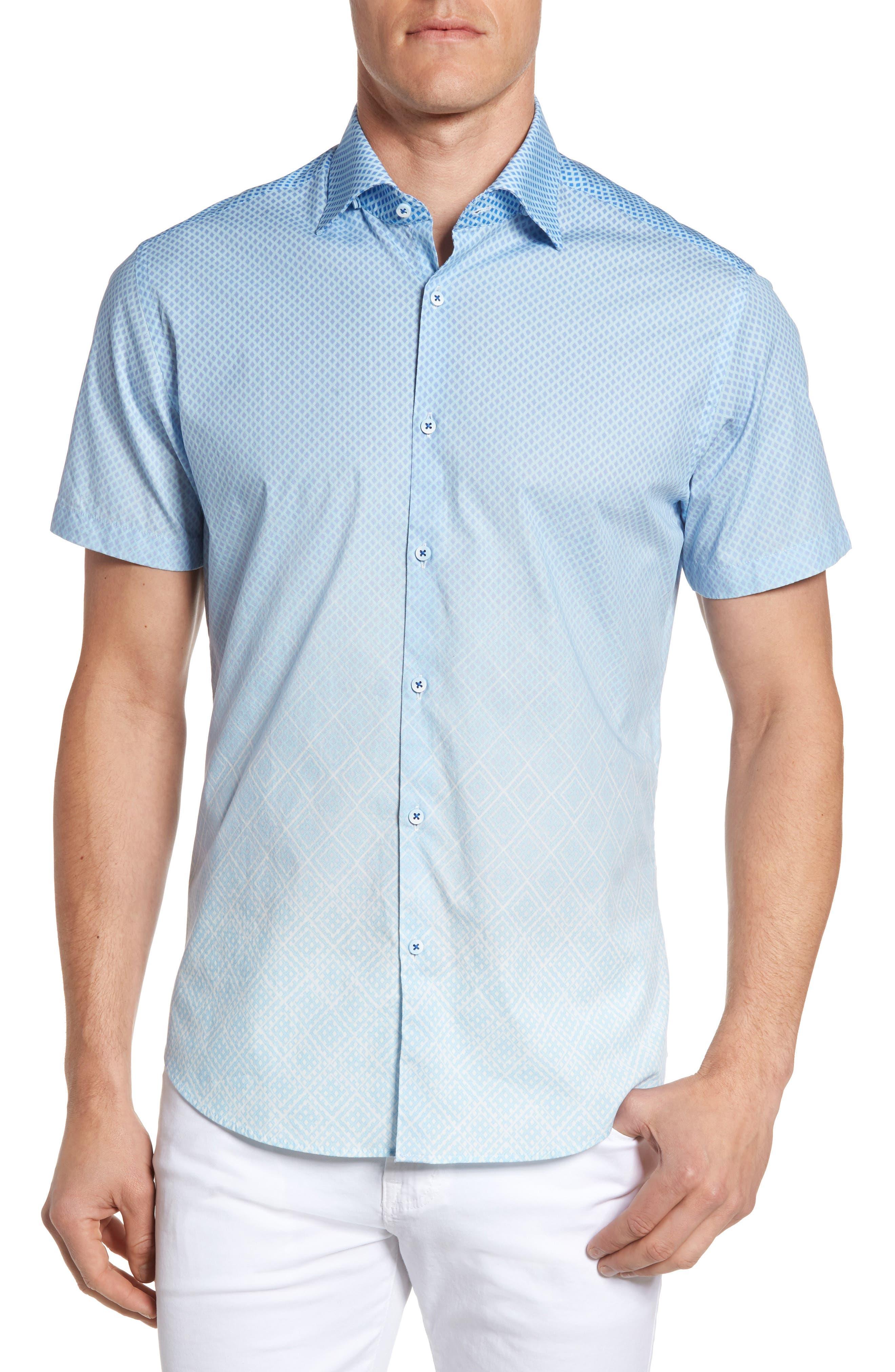 Stone Rose Gradient Diamond Sport Shirt