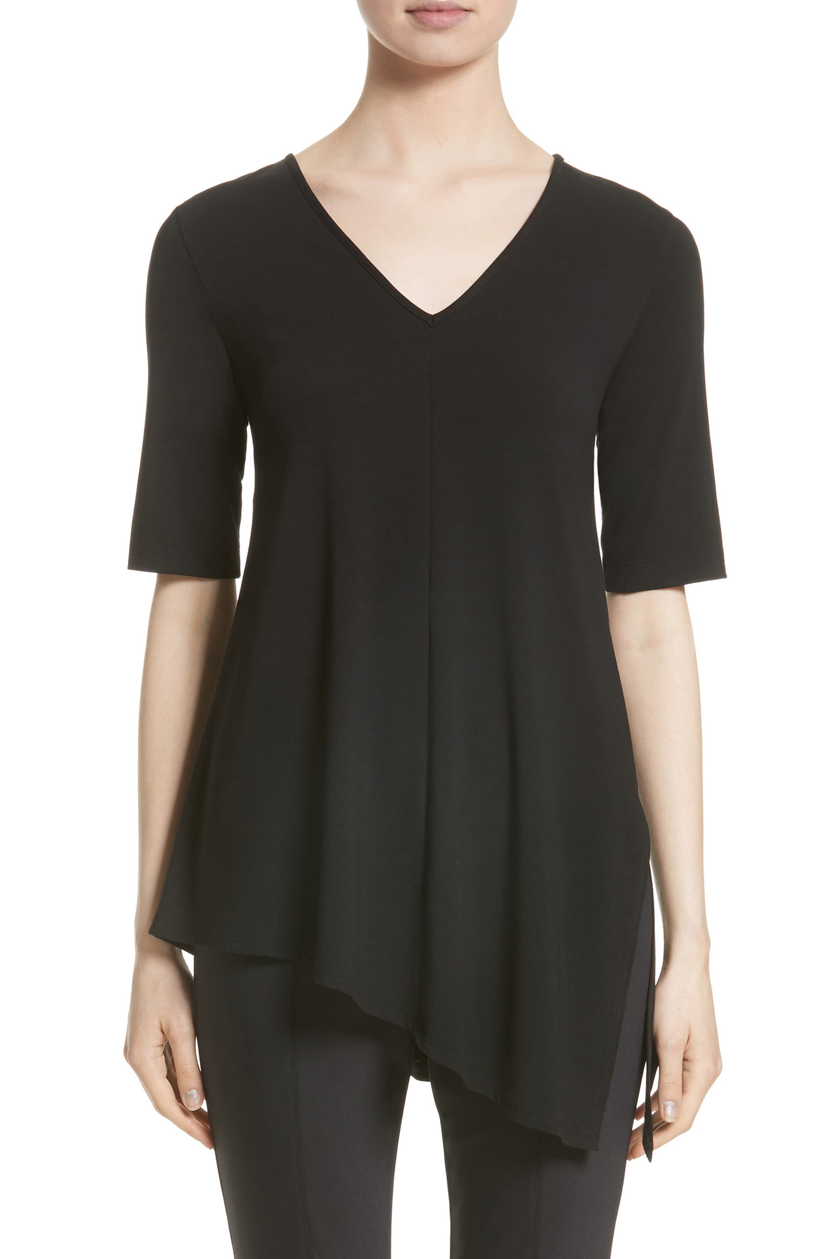 St. John Collection Stretch Jersey Top (Nordstrom Exclusive)