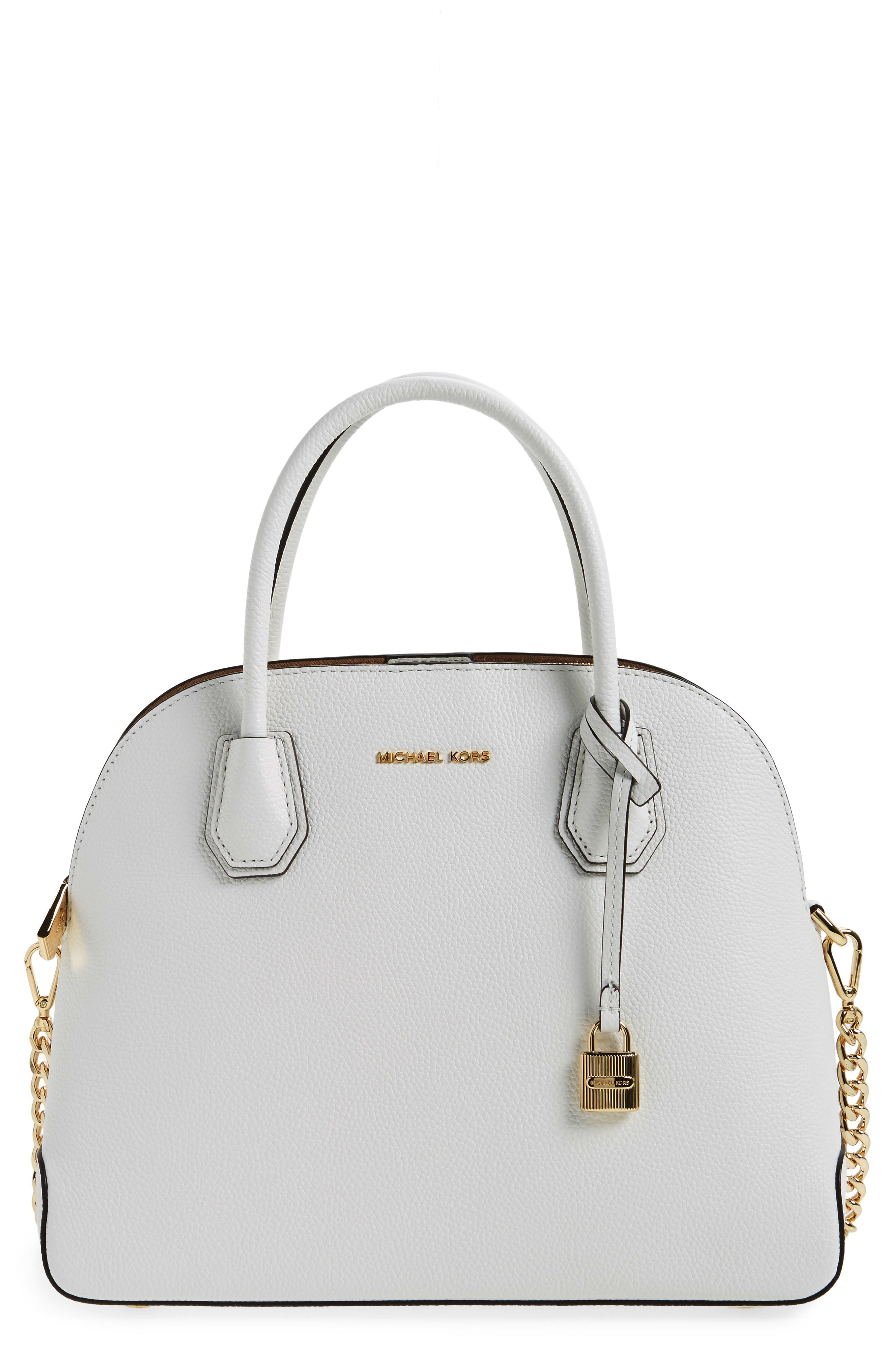 Alternate Image 1 Selected - MICHAEL by Michael Kors Large Mercer Leather Dome Satchel