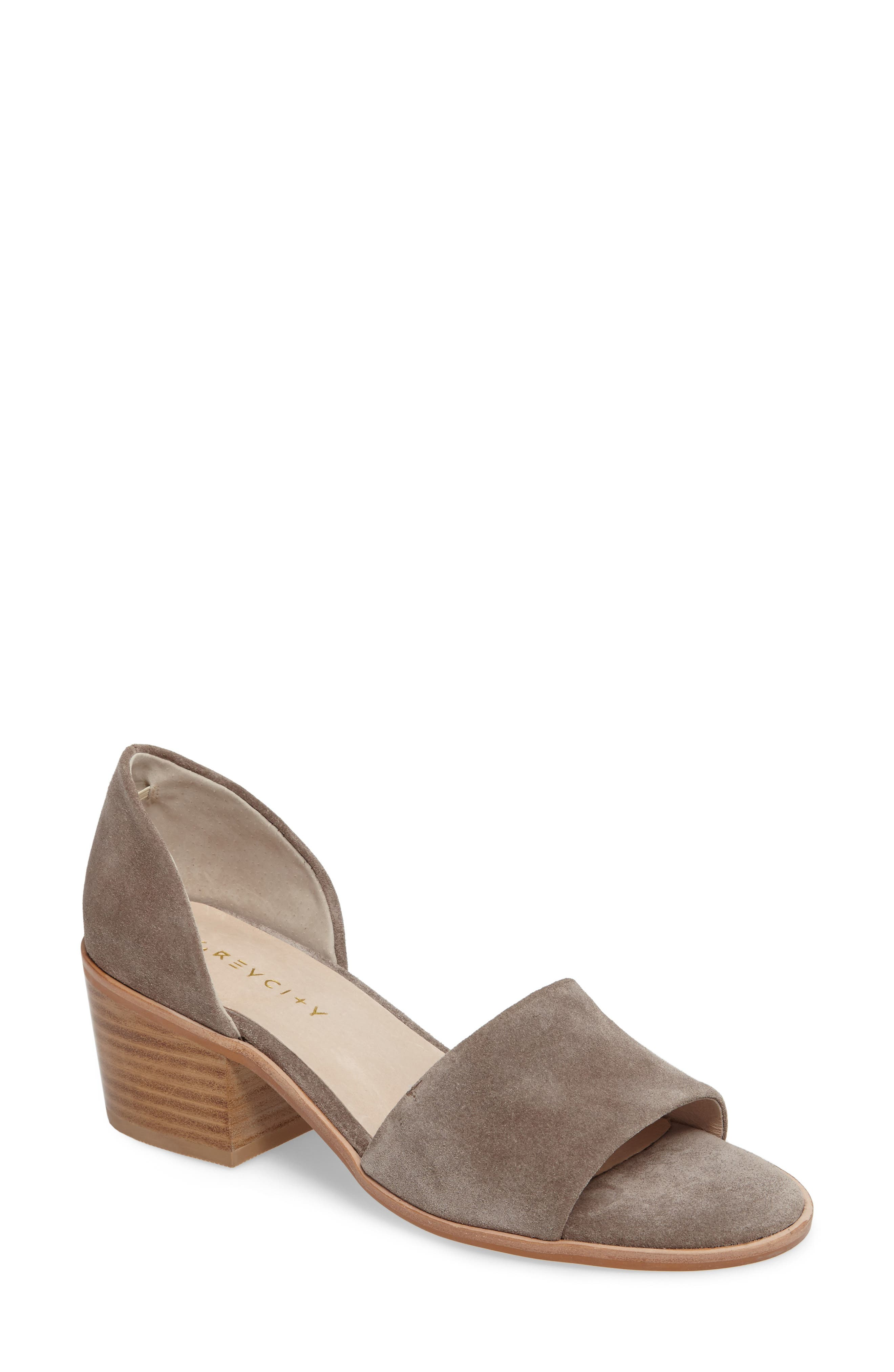 Grey City Ditty Block Heel Sandal (Women)