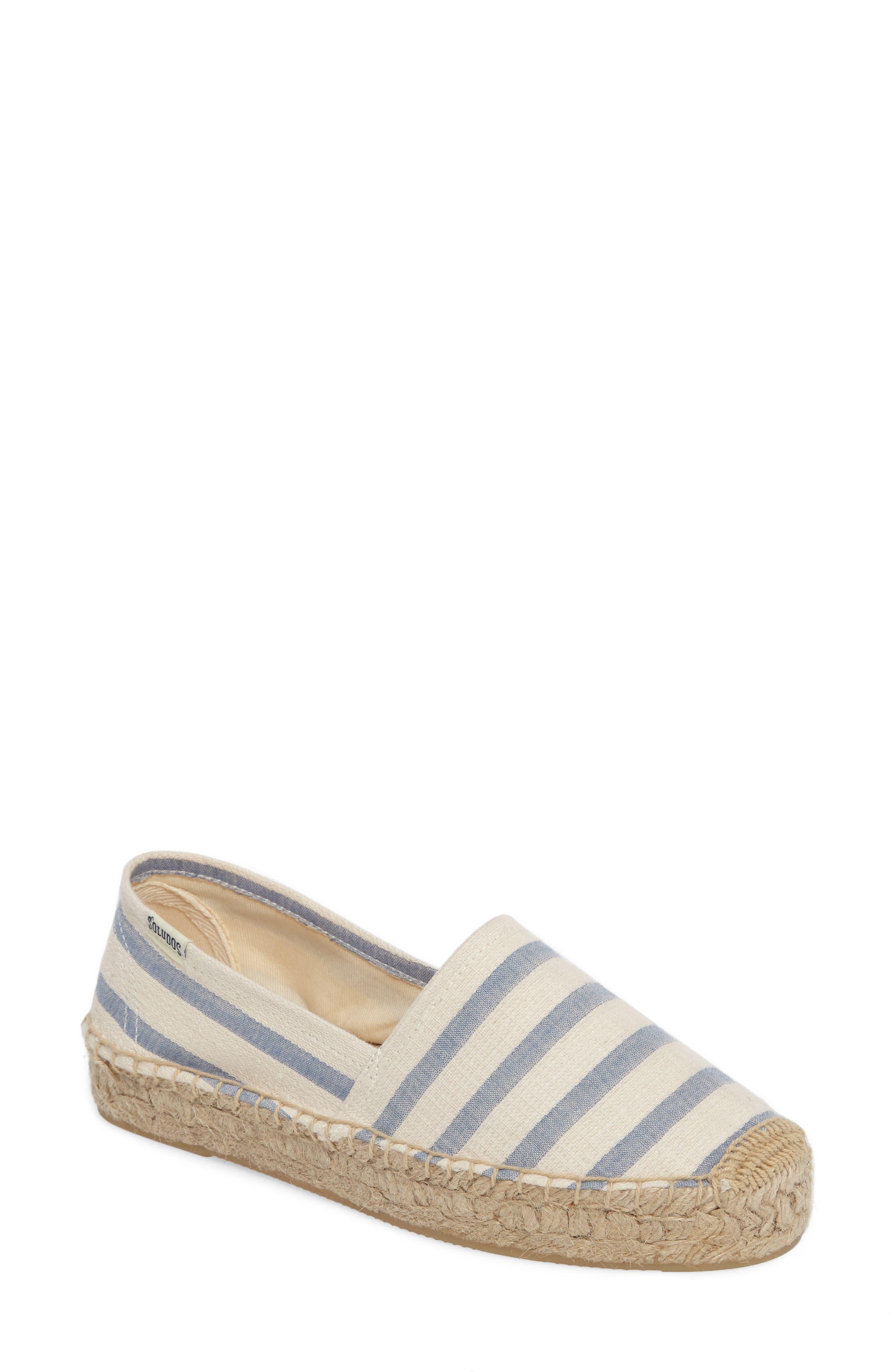 Soludos Stripe Original Platform Espadrille (Women)