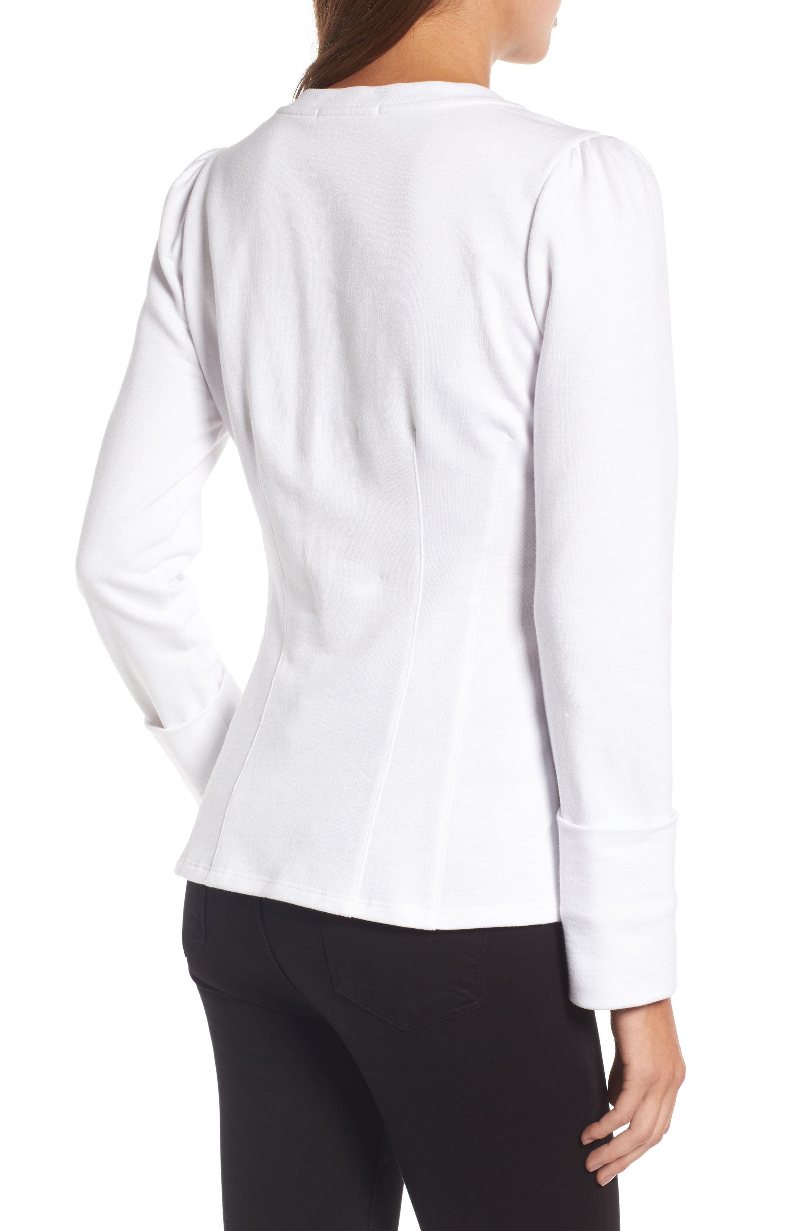 Alternate Image 3  - Trouvé Lace-Up Corset Sweatshirt