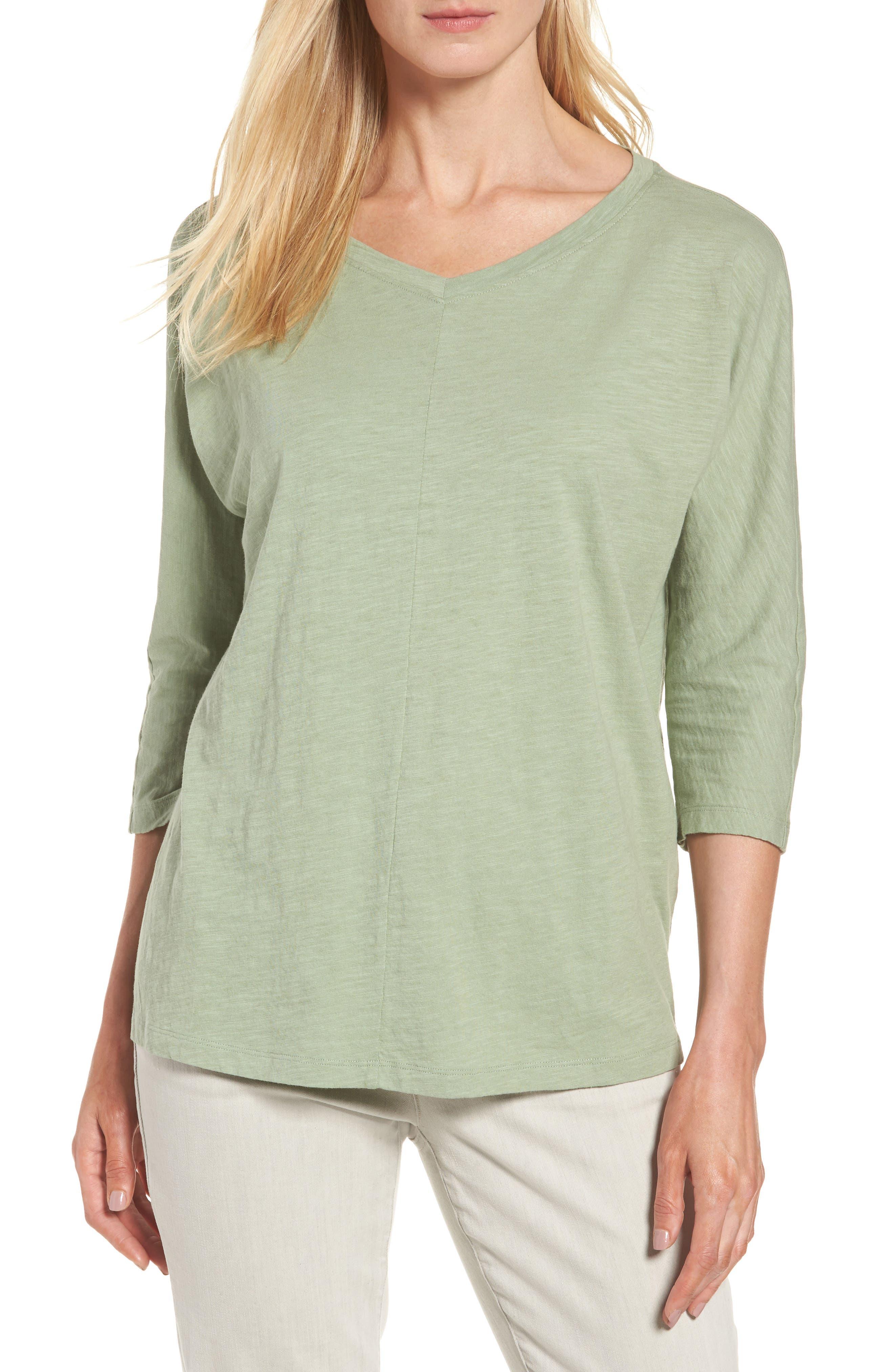 Eileen Fisher Organic Cotton Knit Boxy Top