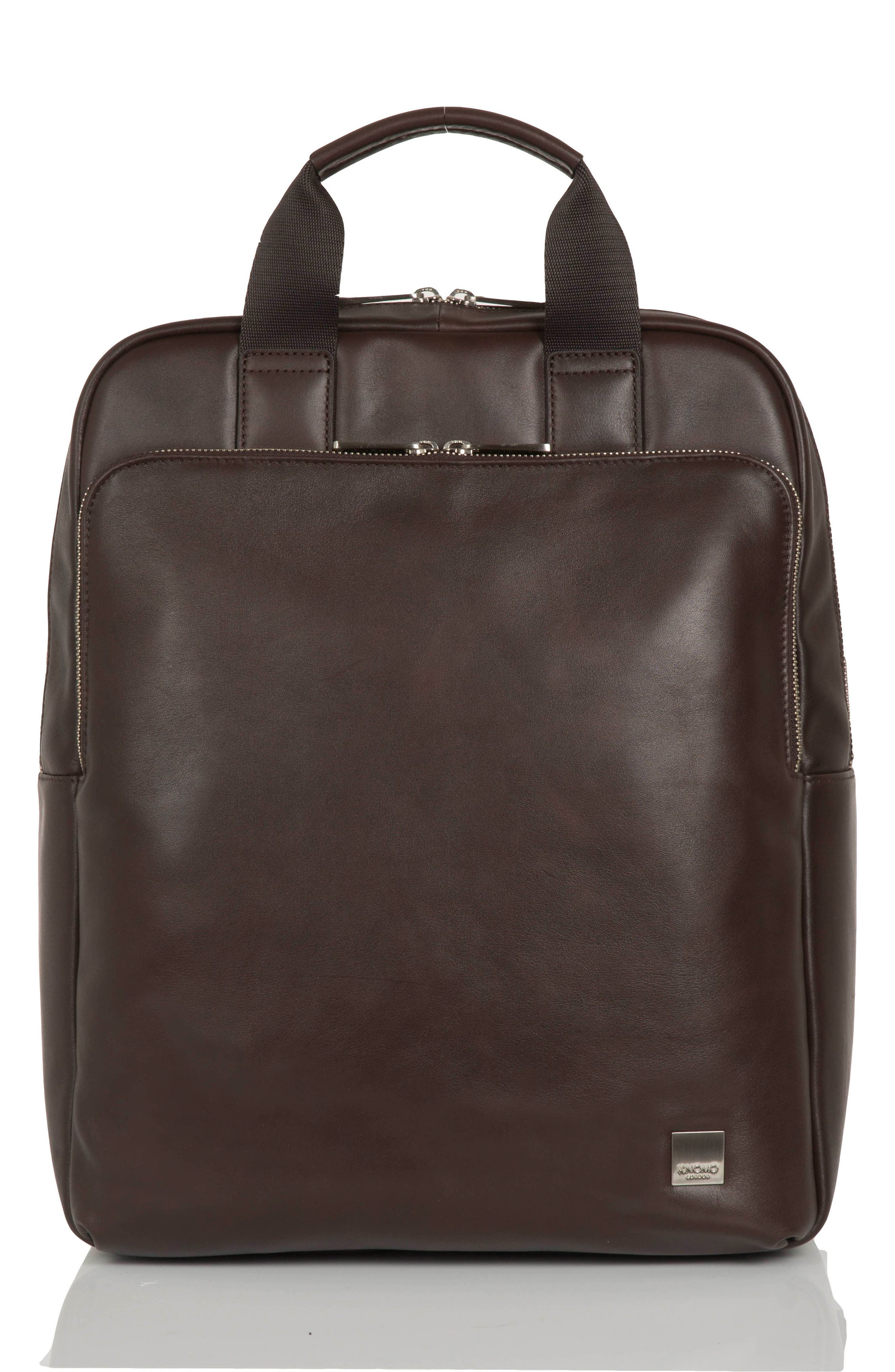 KNOMO London Brompton Dale Leather Totepack