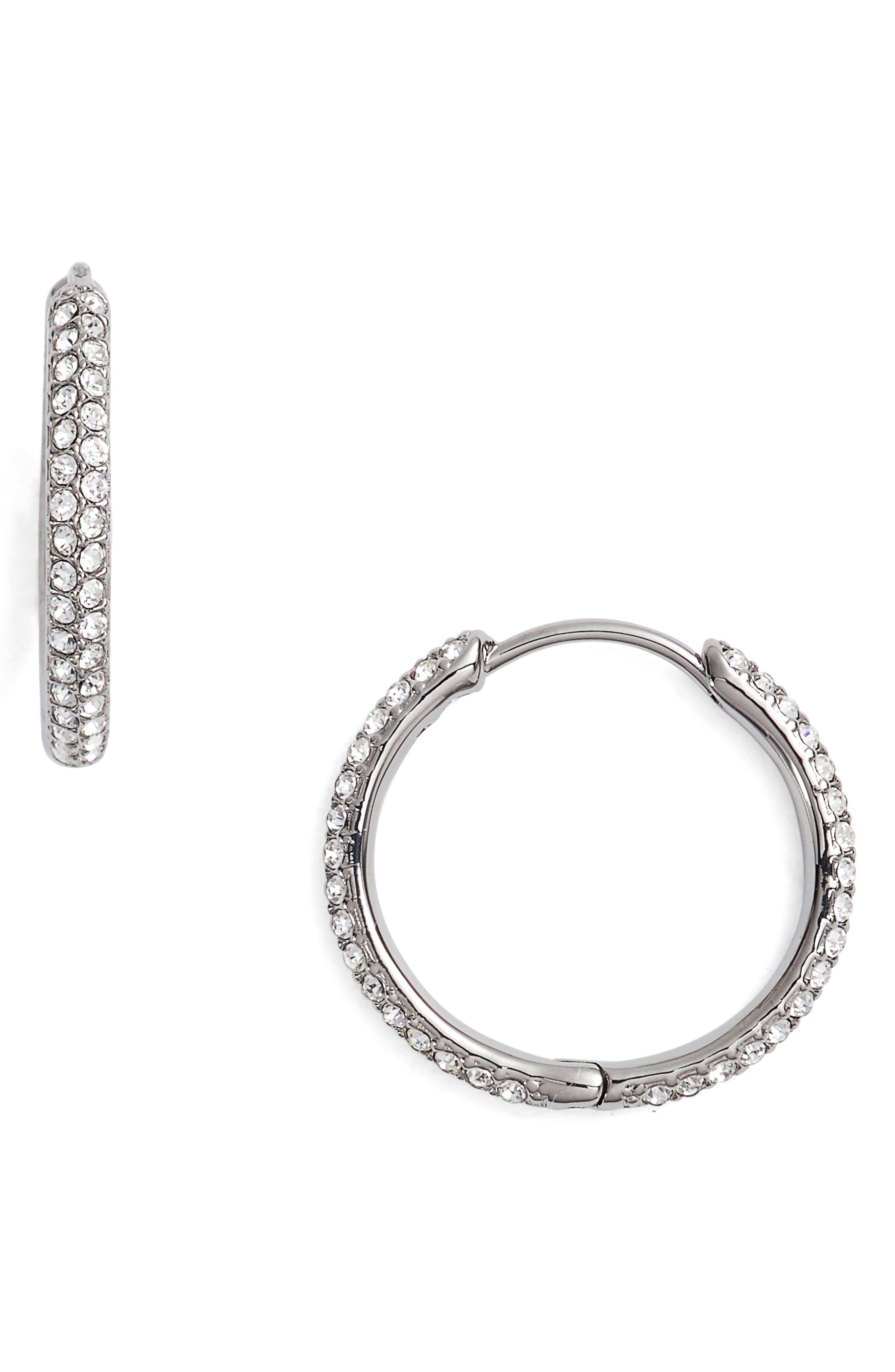 Nadri Pavé Hoop Earrings
