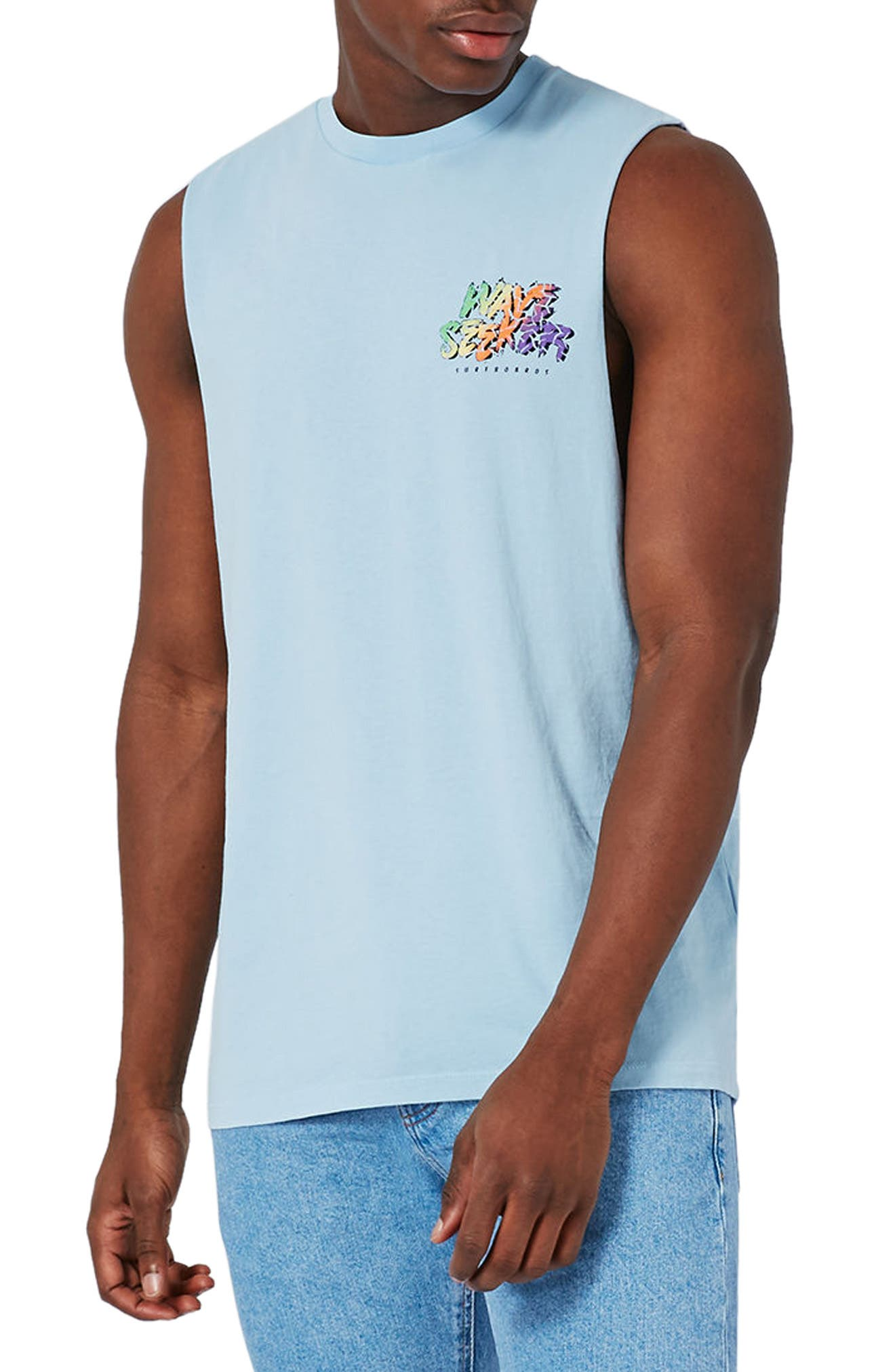 Topman Wave Seeker Oversize Graphic Tank