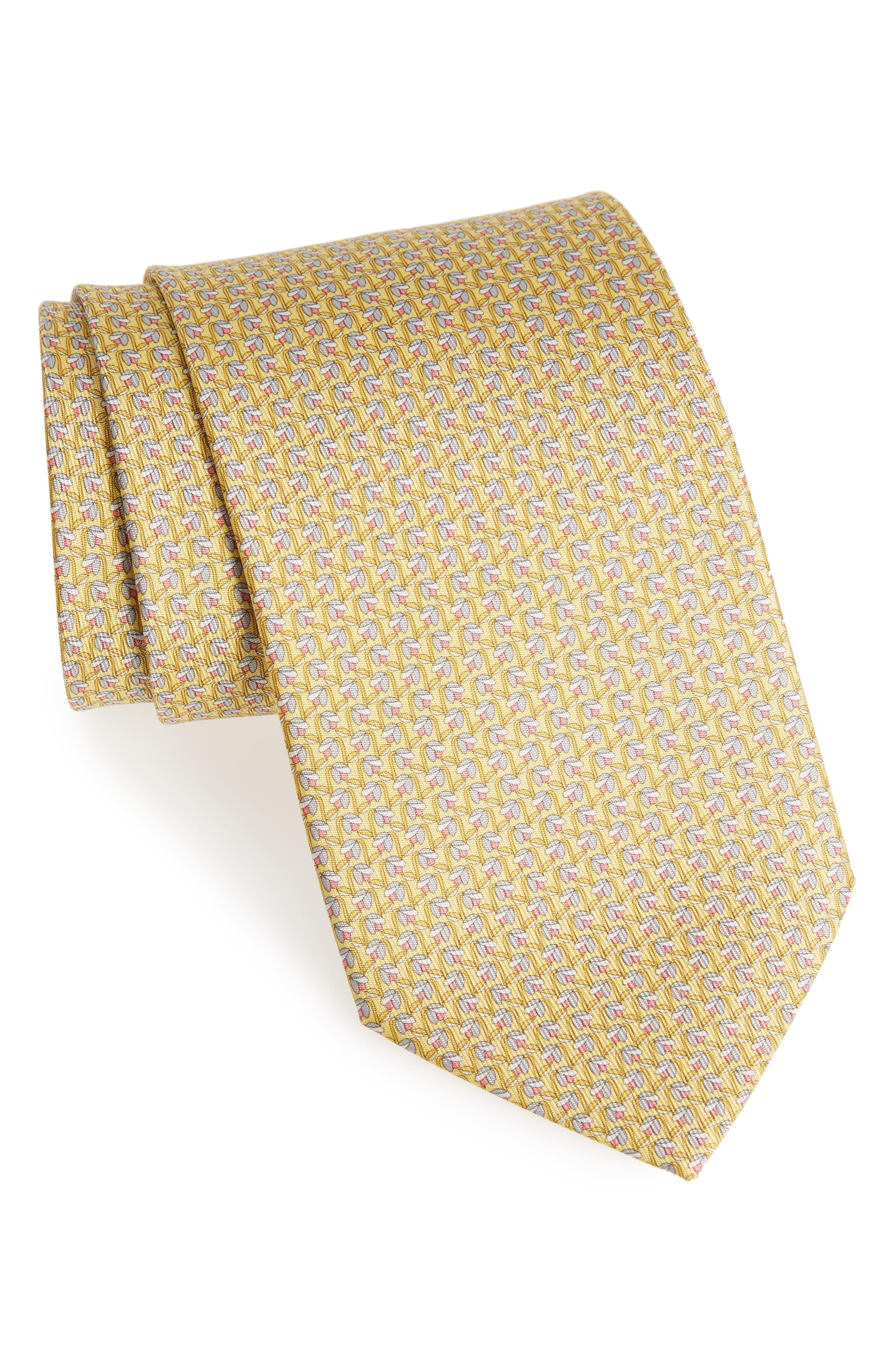 Salvatore Ferragamo Dracena Print Silk Tie