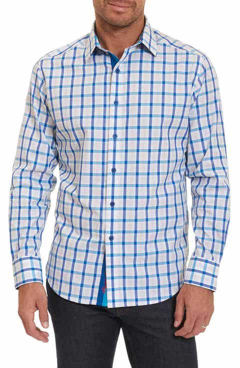 Robert Graham Classic Fit Check Sport Shirt (Regular   Big)