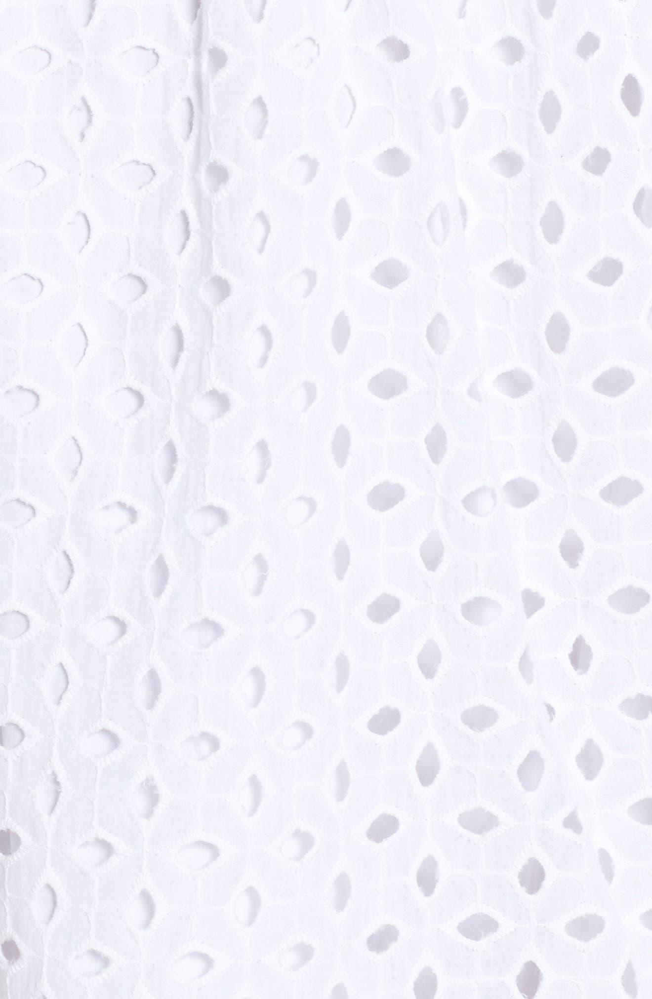 Alternate Image 5  - NSR Eyelet Fit & Flare Dress