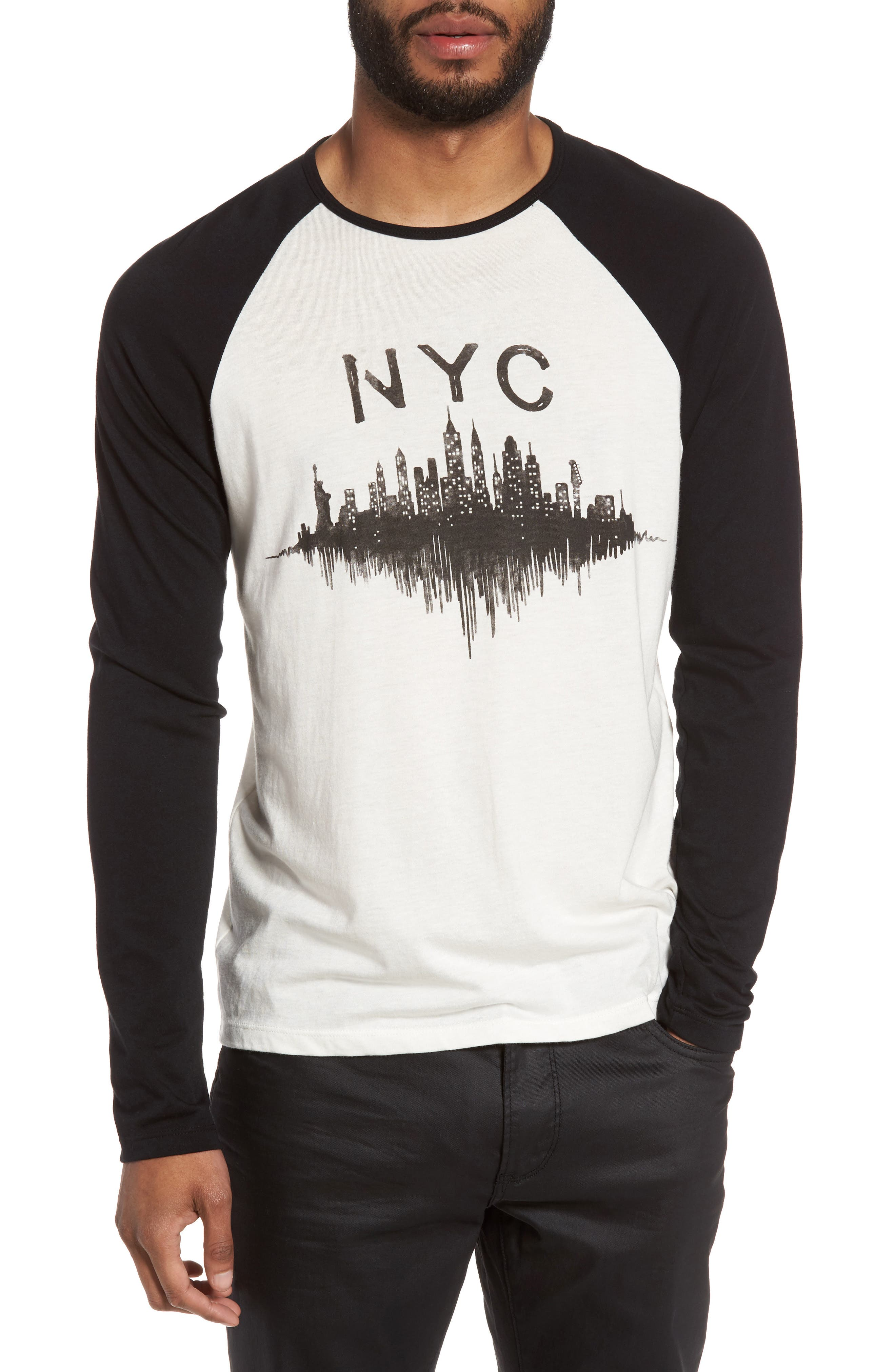 John Varvatos Star USA NYC Graphic Raglan Sleeve T-Shirt