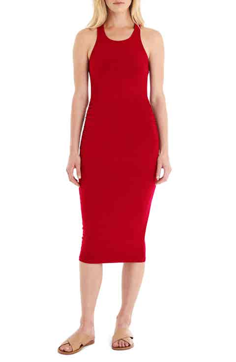 Michael Stars Racerback Midi Dress (Regular   Petite)