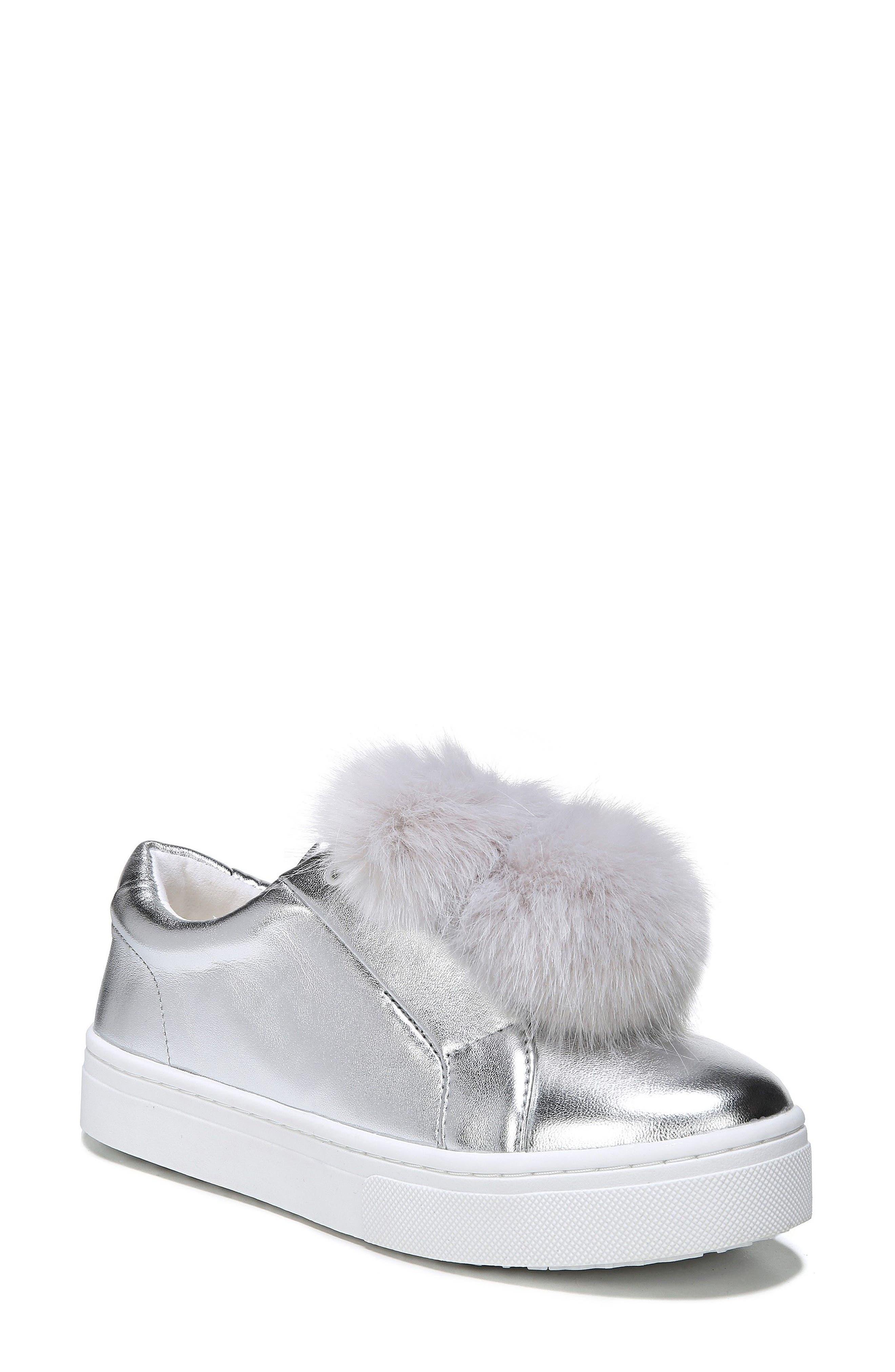 Main Image - Sam Edelman 'Leya' Faux Fur Laceless Sneaker (Women)