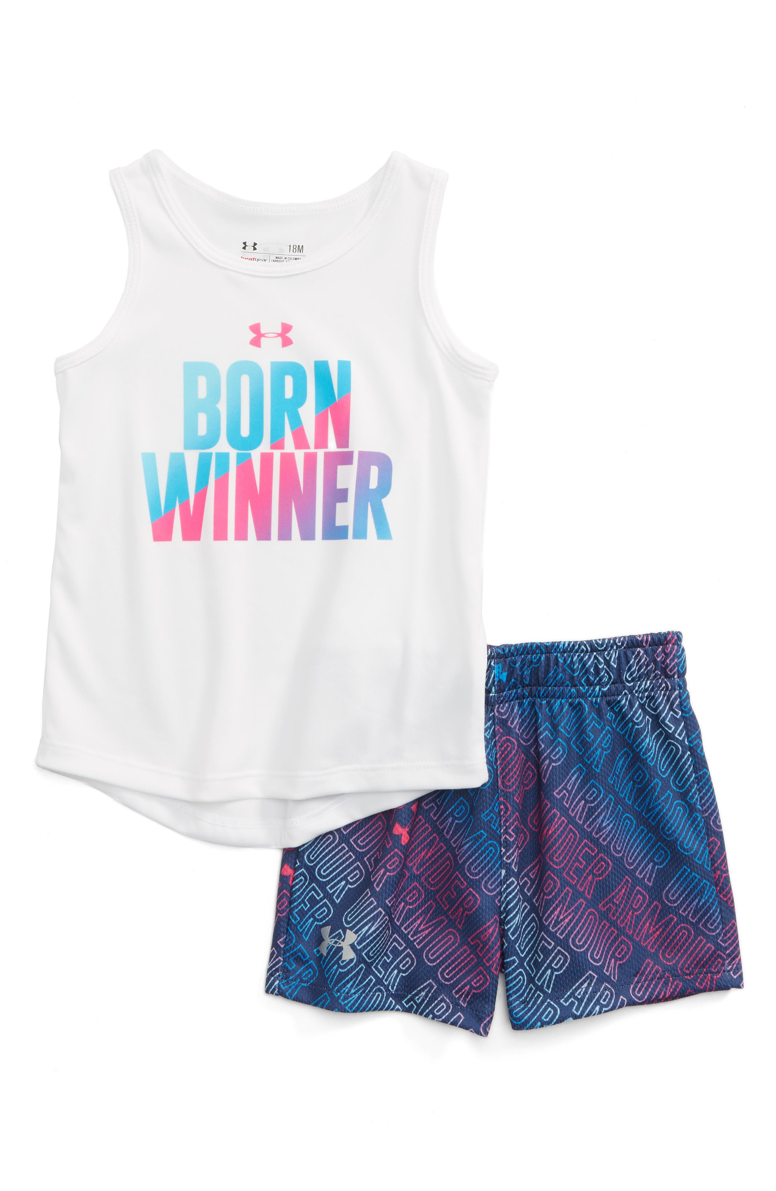 Under Armour Born Winner HeatGear® Tank & Shorts Set (Baby Girls)