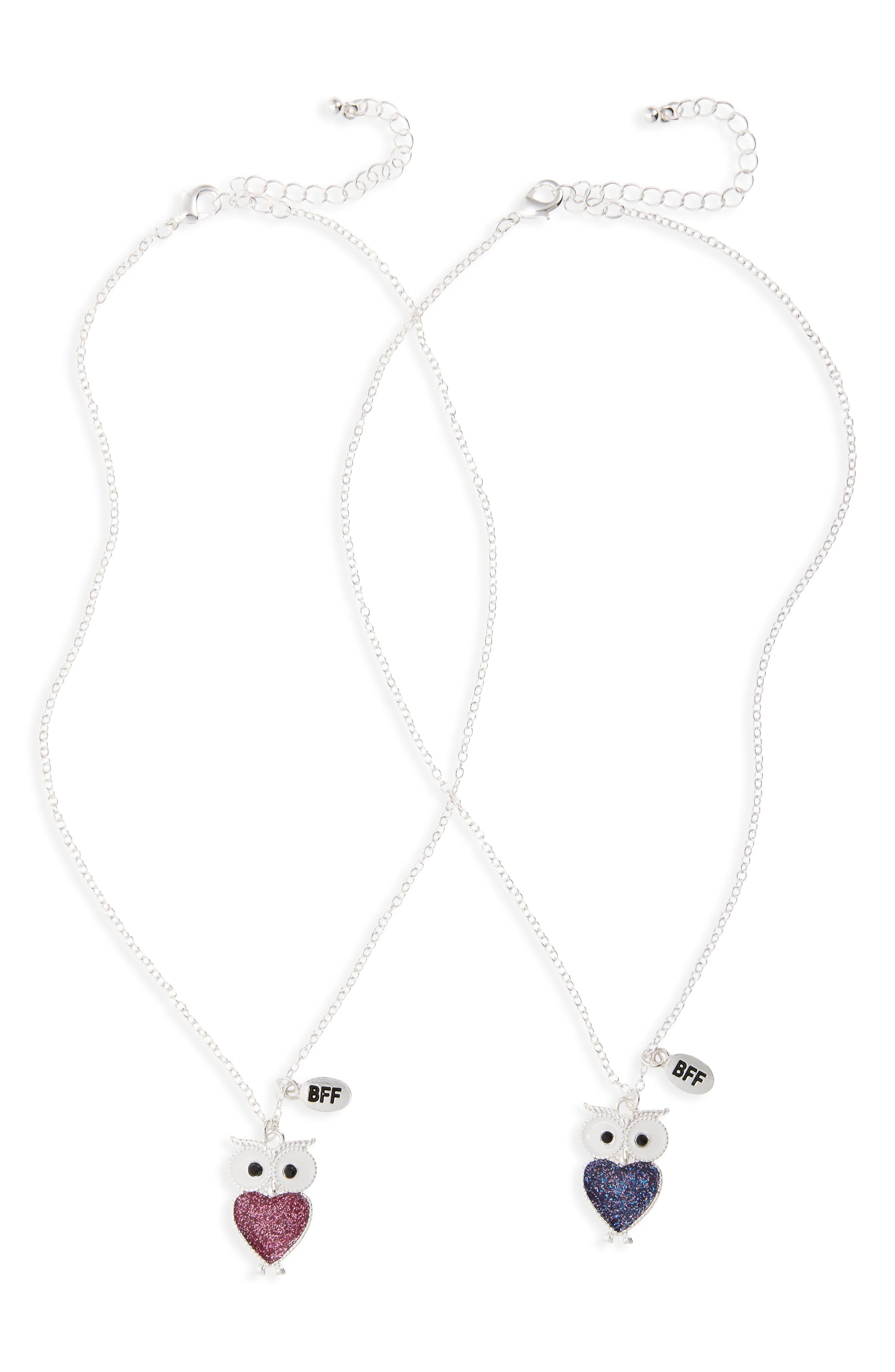 Capelli of New York Owl BFF Set of 2 Necklaces (Girls)