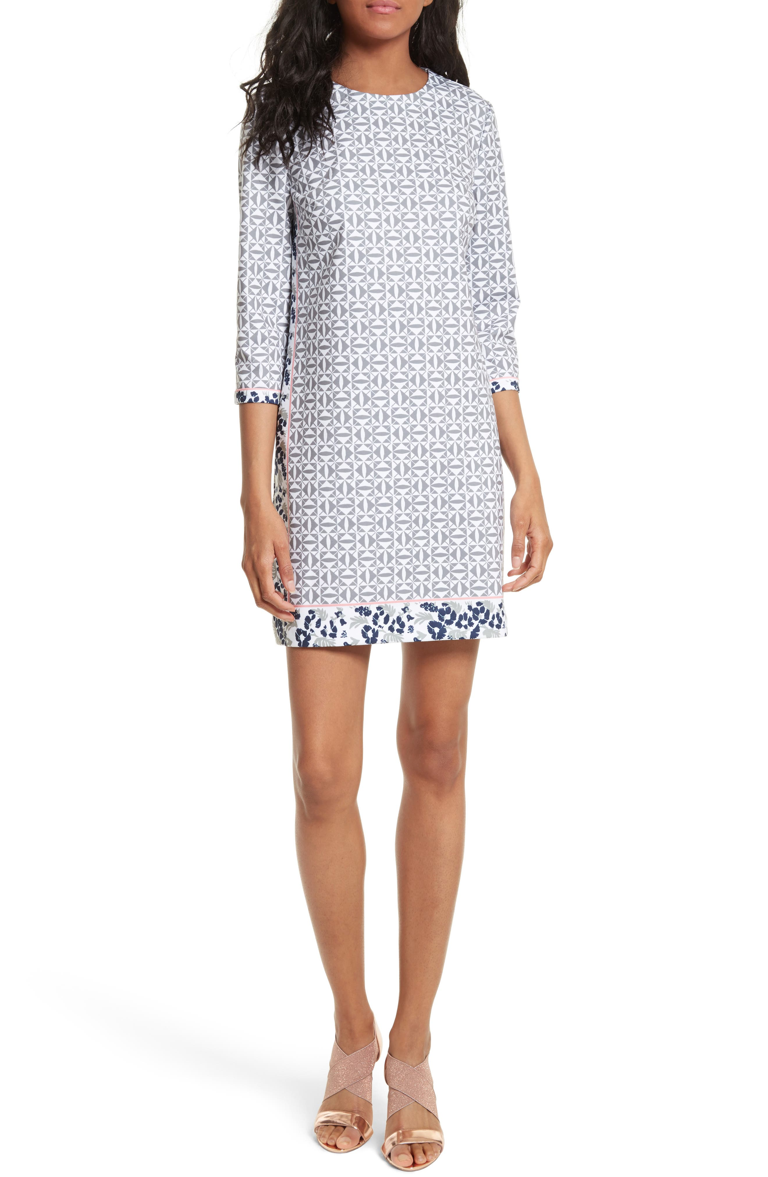 Ted Baker London Lealla Border Print Shift Dress