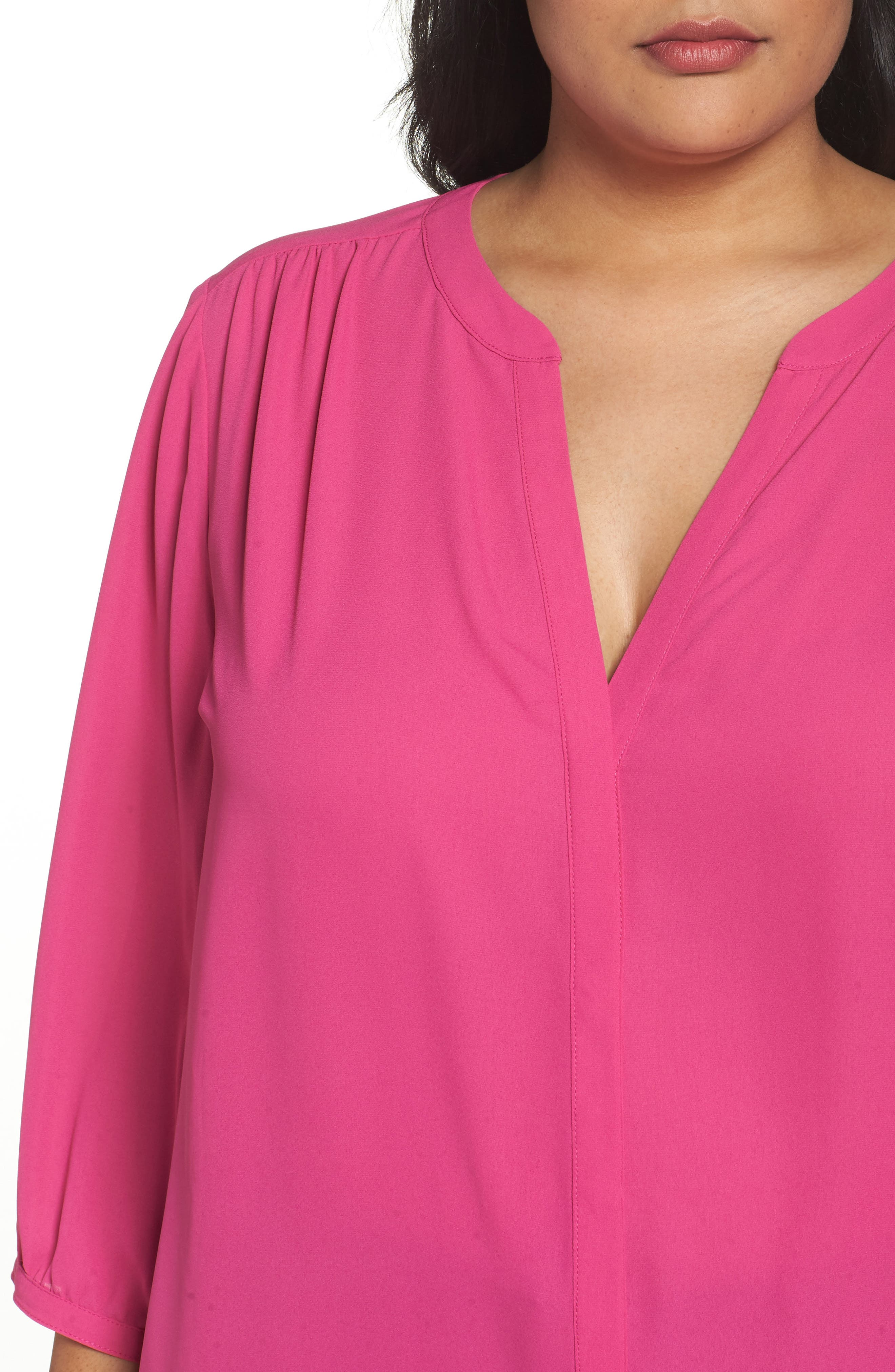 Alternate Image 4  - NYDJ High/Low Blouse (Plus Size)