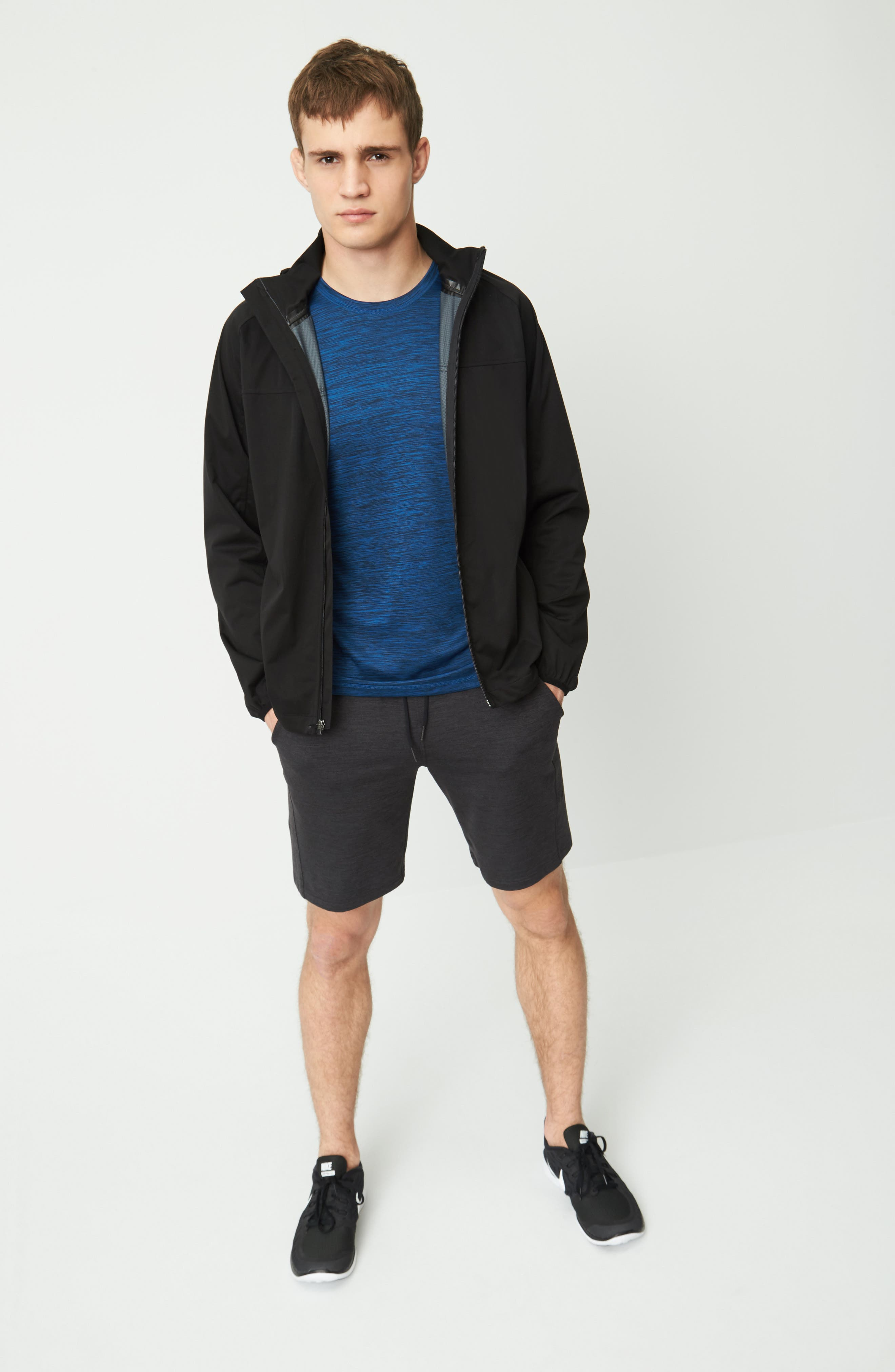 Zella Jacket, T-Shirt & Shorts Outfit with Accessories