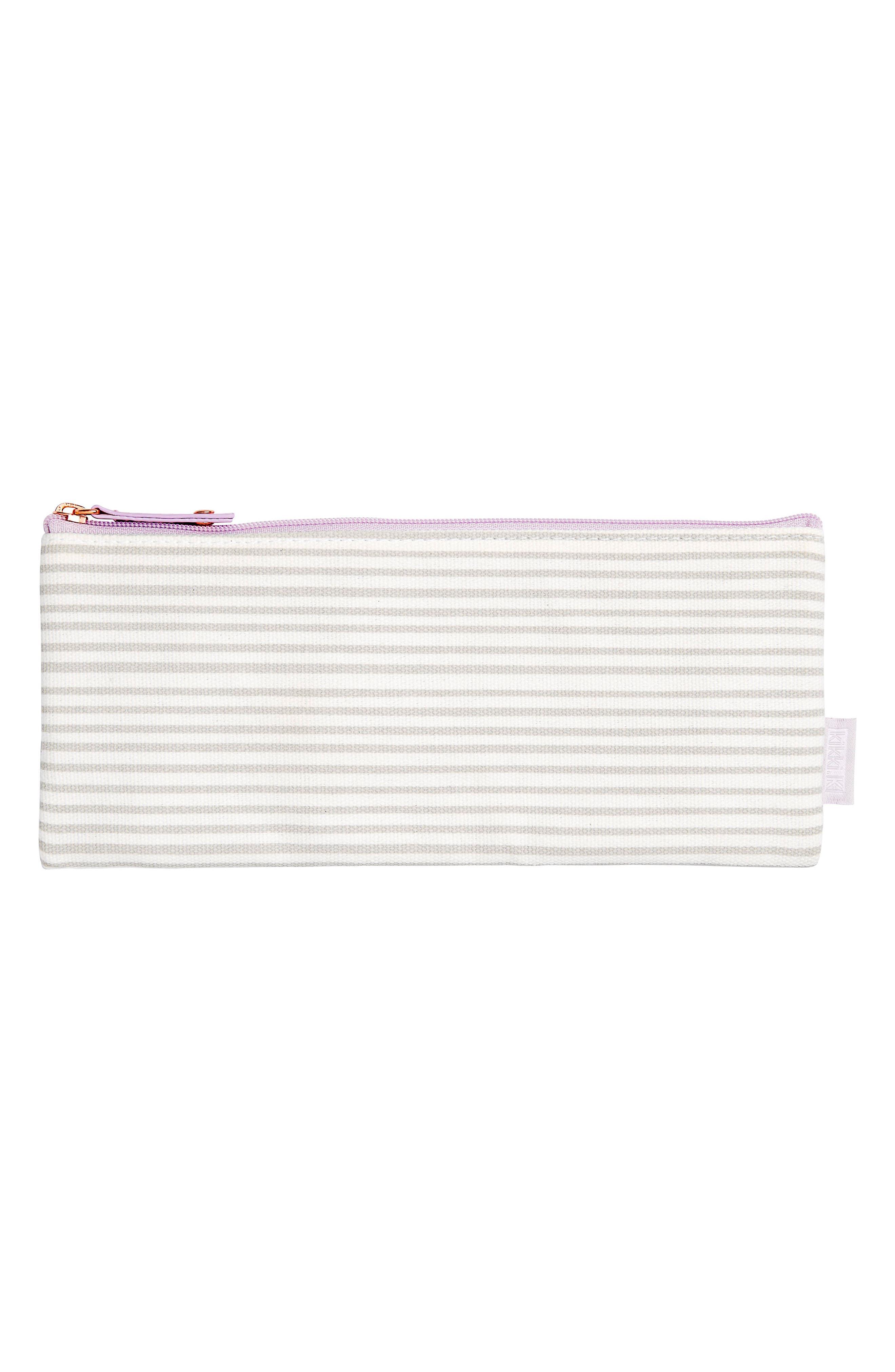 kikki.K Stripe Canvas Pencil Case
