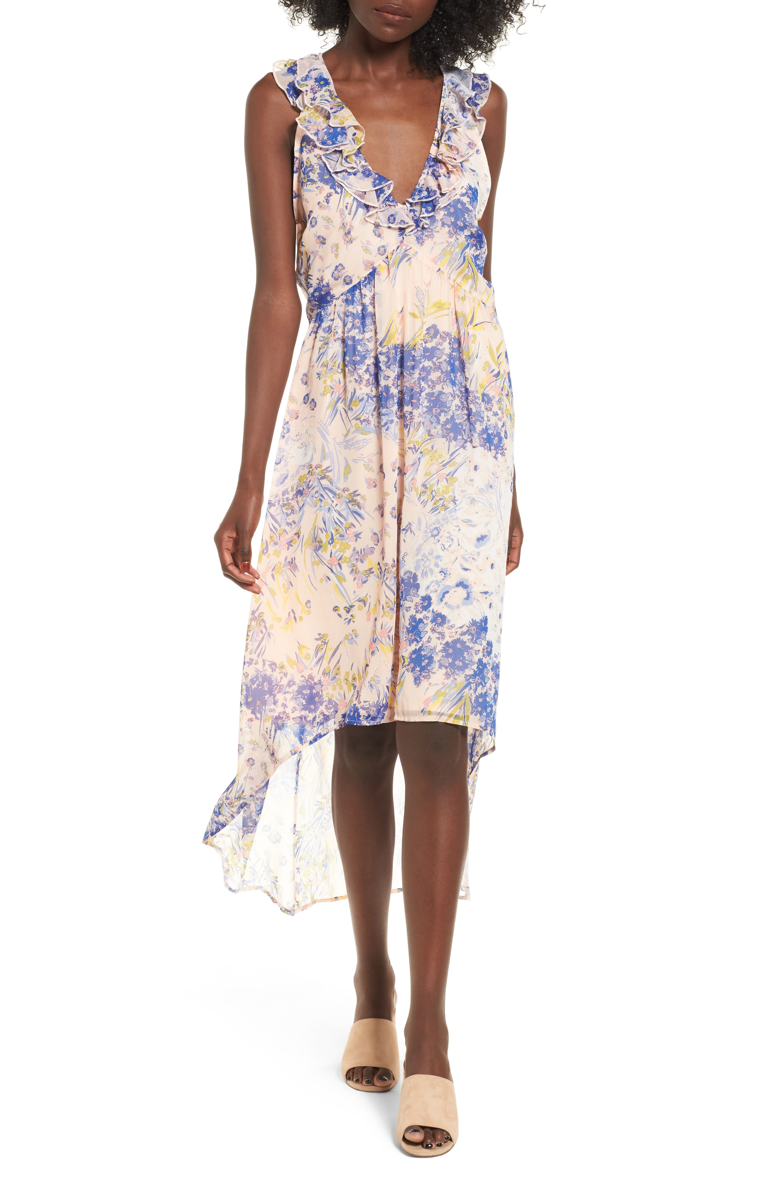 Leith Ruffle High/Low Dress