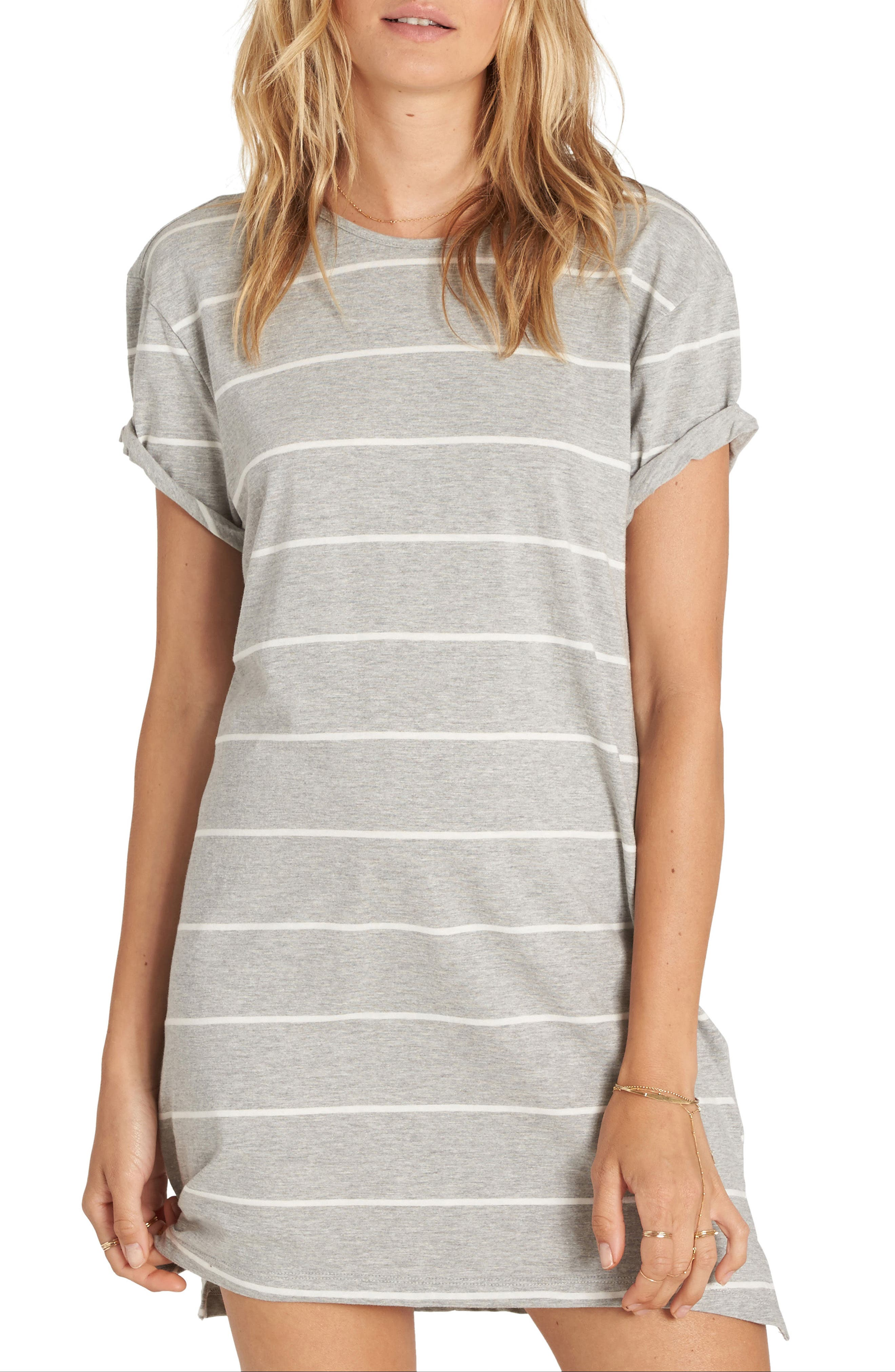 Billabong Down Time Stripe T-Shirt Dress